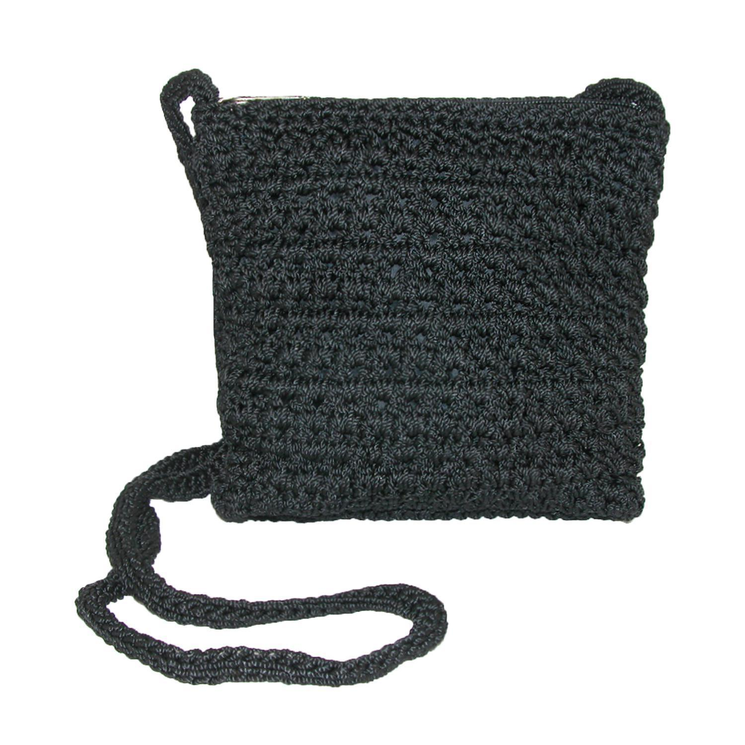 New-CTM-Women-039-s-Crochet-Crossbody-Handbag thumbnail 3
