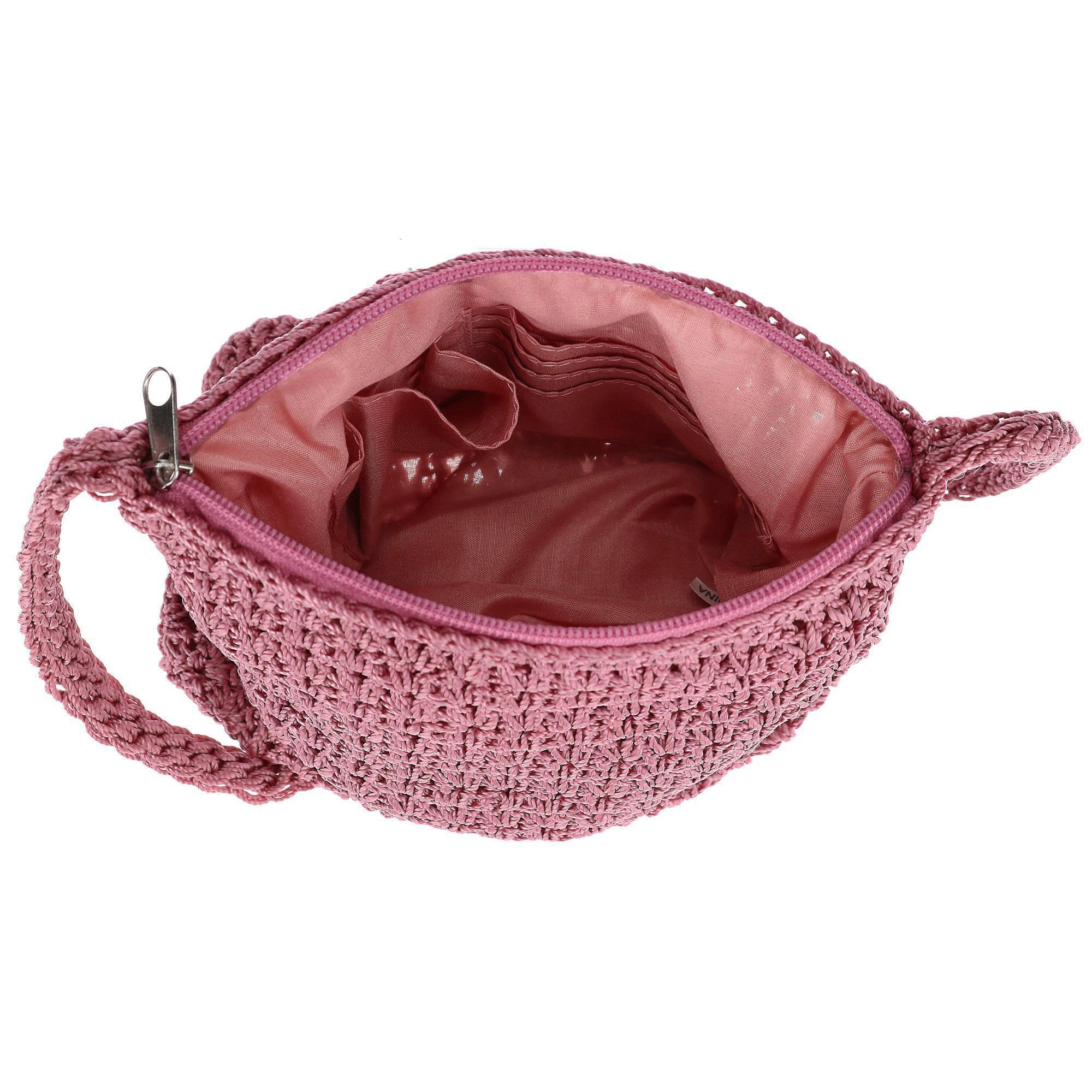 New-CTM-Women-039-s-Crochet-Crossbody-Handbag thumbnail 13
