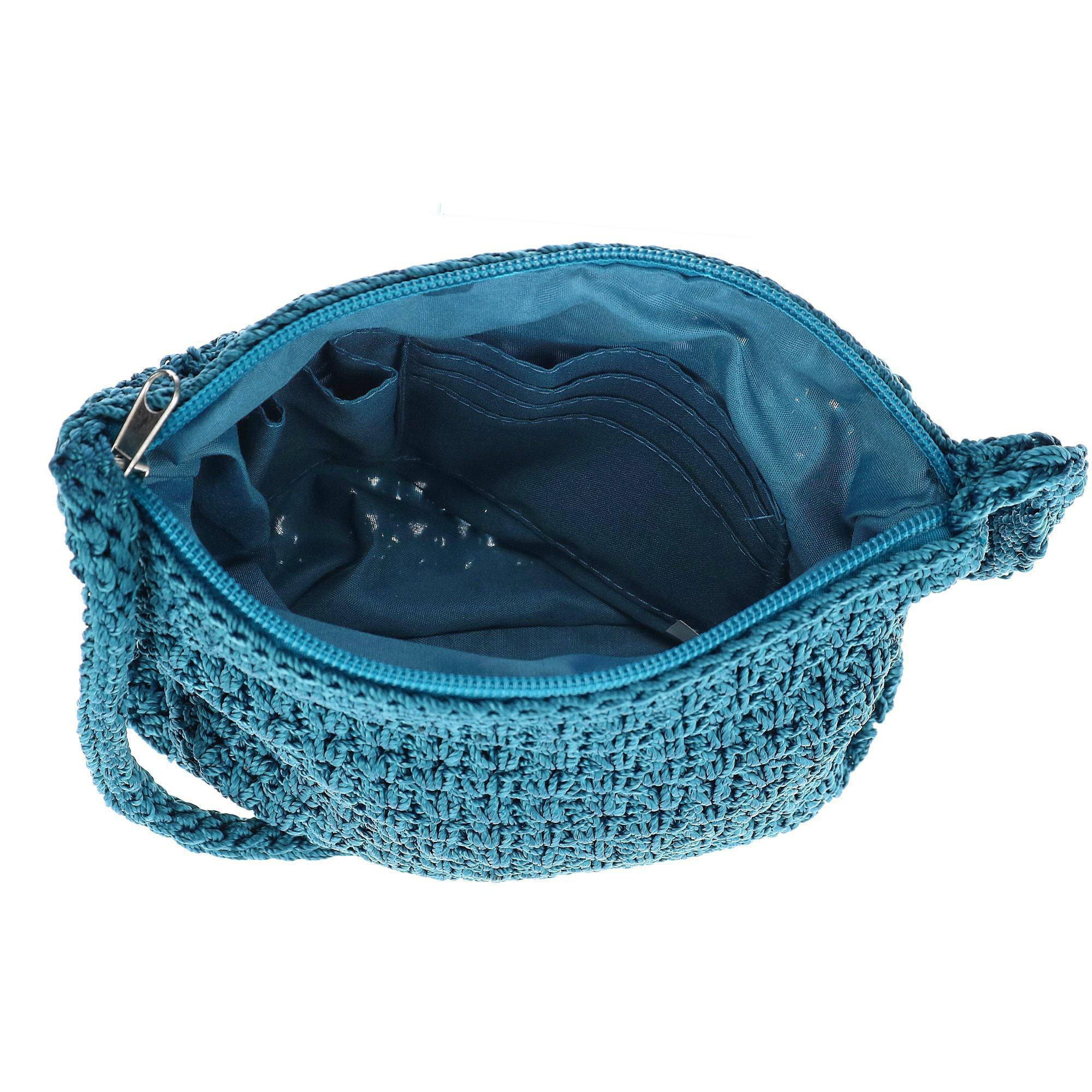 New-CTM-Women-039-s-Crochet-Crossbody-Handbag thumbnail 15