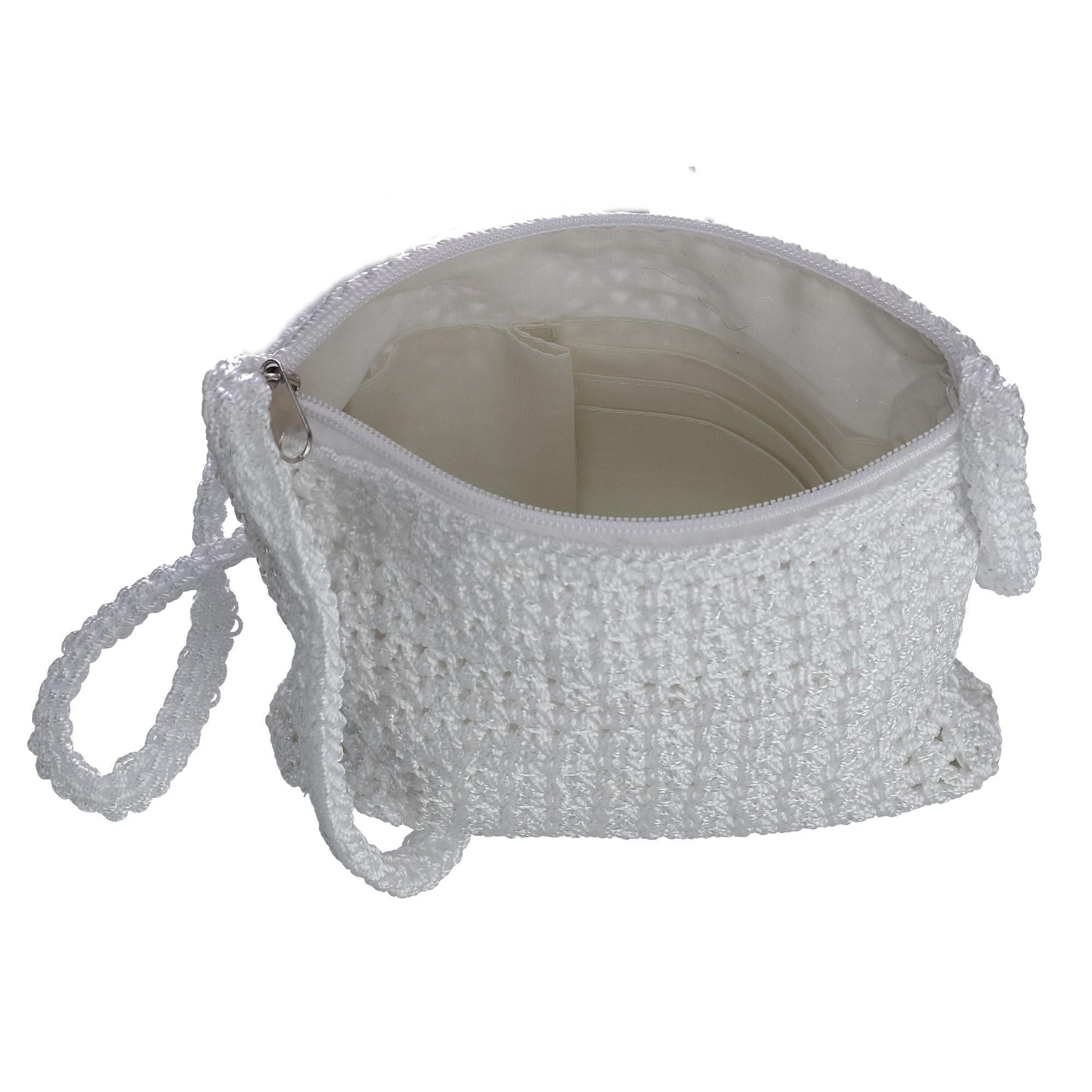 New-CTM-Women-039-s-Crochet-Crossbody-Handbag thumbnail 17
