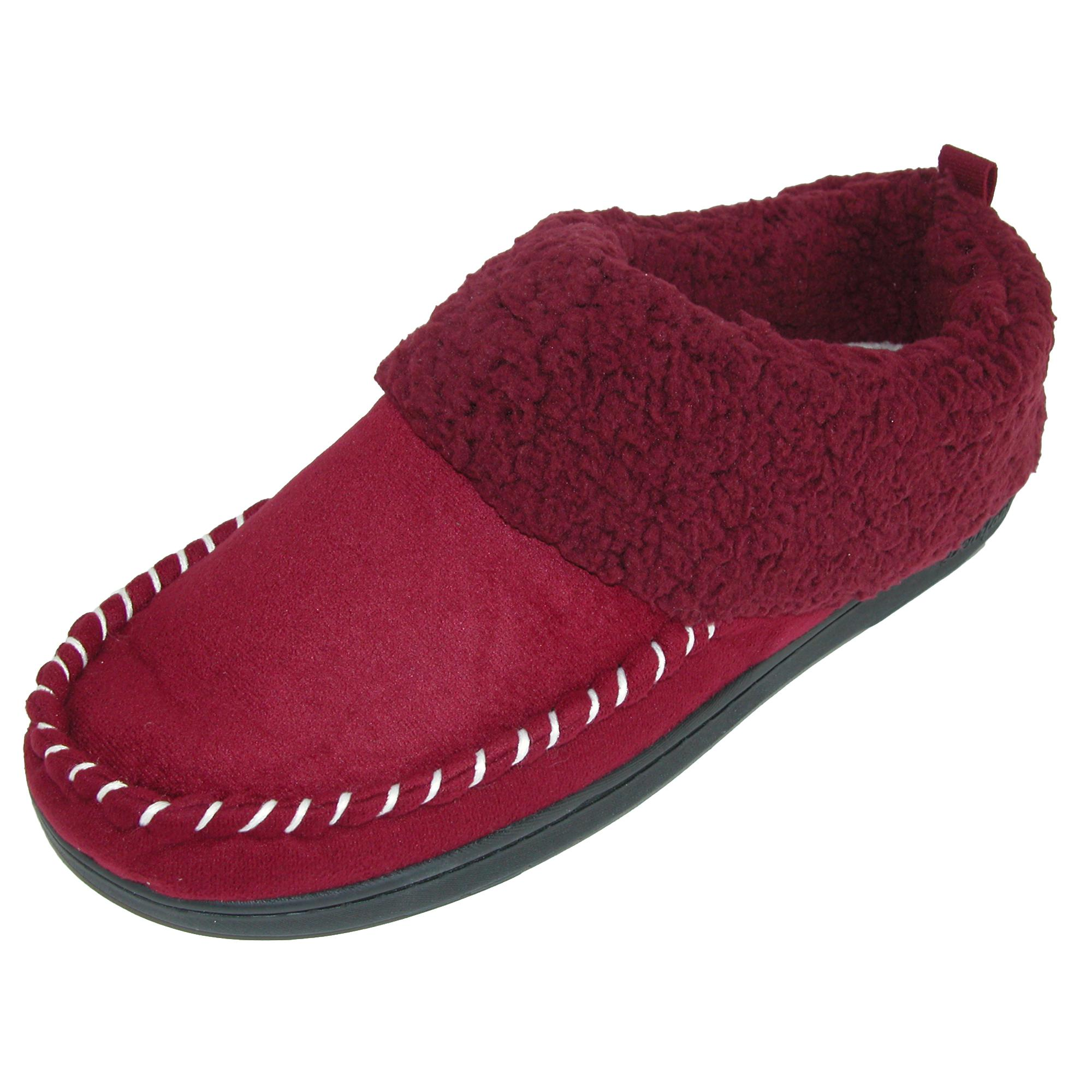 New Dearfoams Women's Microsuede Clog Slipper with Microstitch Detail;  Picture 2 of 5; Picture 3 of 5 ...