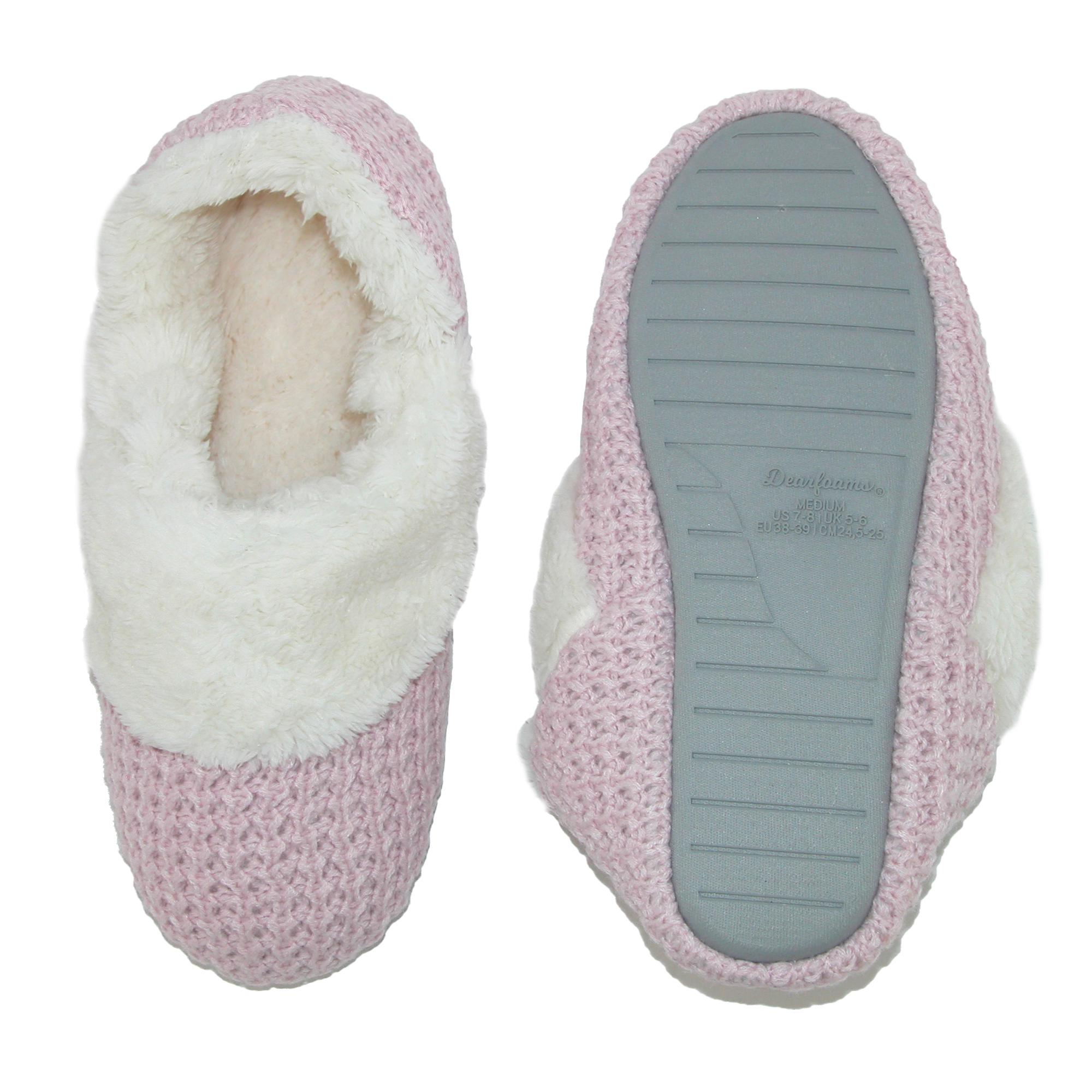 New-Dearfoams-Women-039-s-Sweater-Knit-Bootie-Slippers thumbnail 4