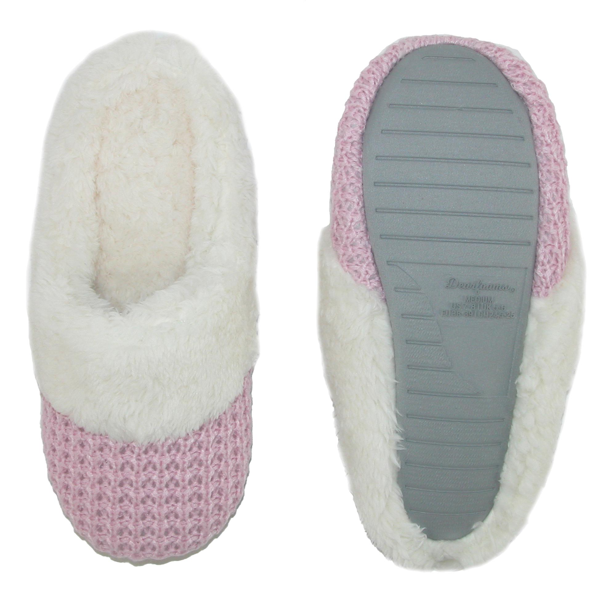 New-Dearfoams-Women-039-s-Sweater-Knit-Closed-Toe-Scuff-Slippers thumbnail 4