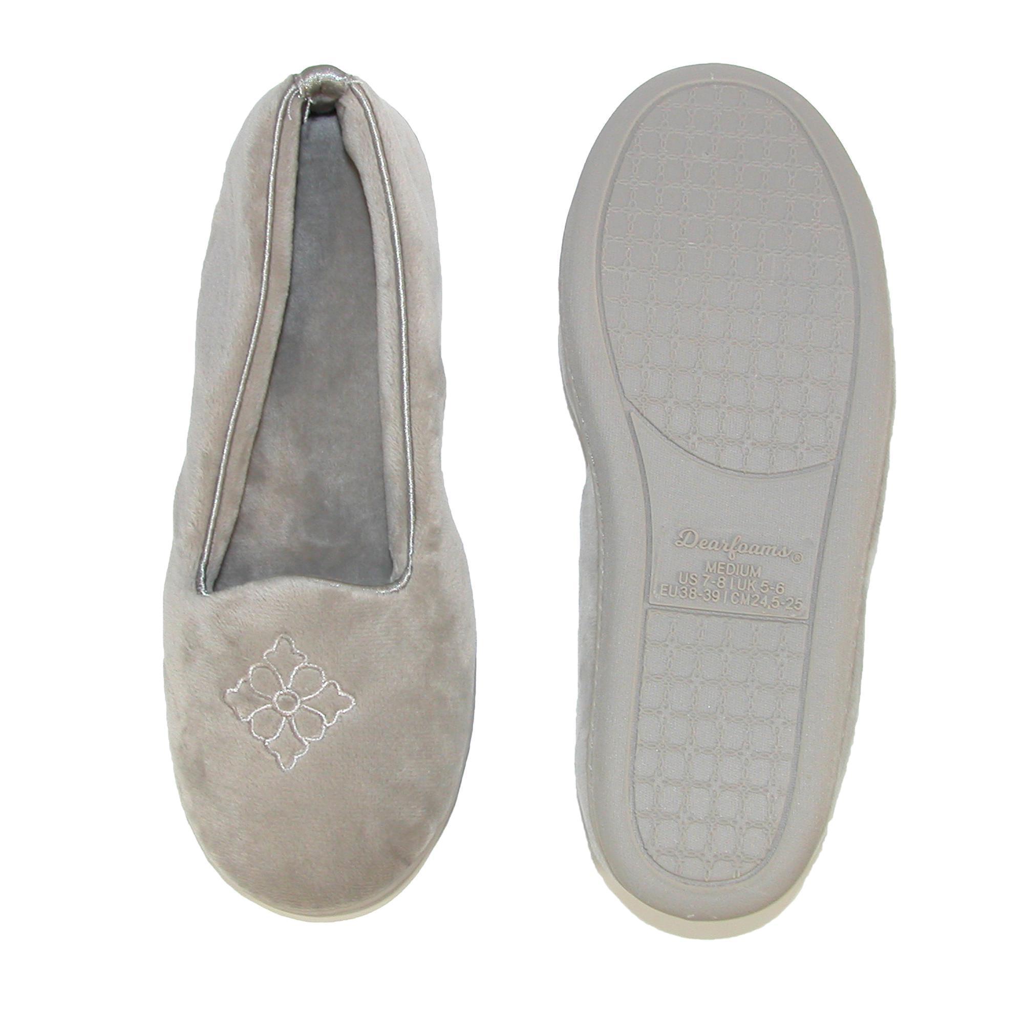 New-Dearfoams-Women-039-s-Microfiber-Velour-Closed-Back-Slippers thumbnail 12