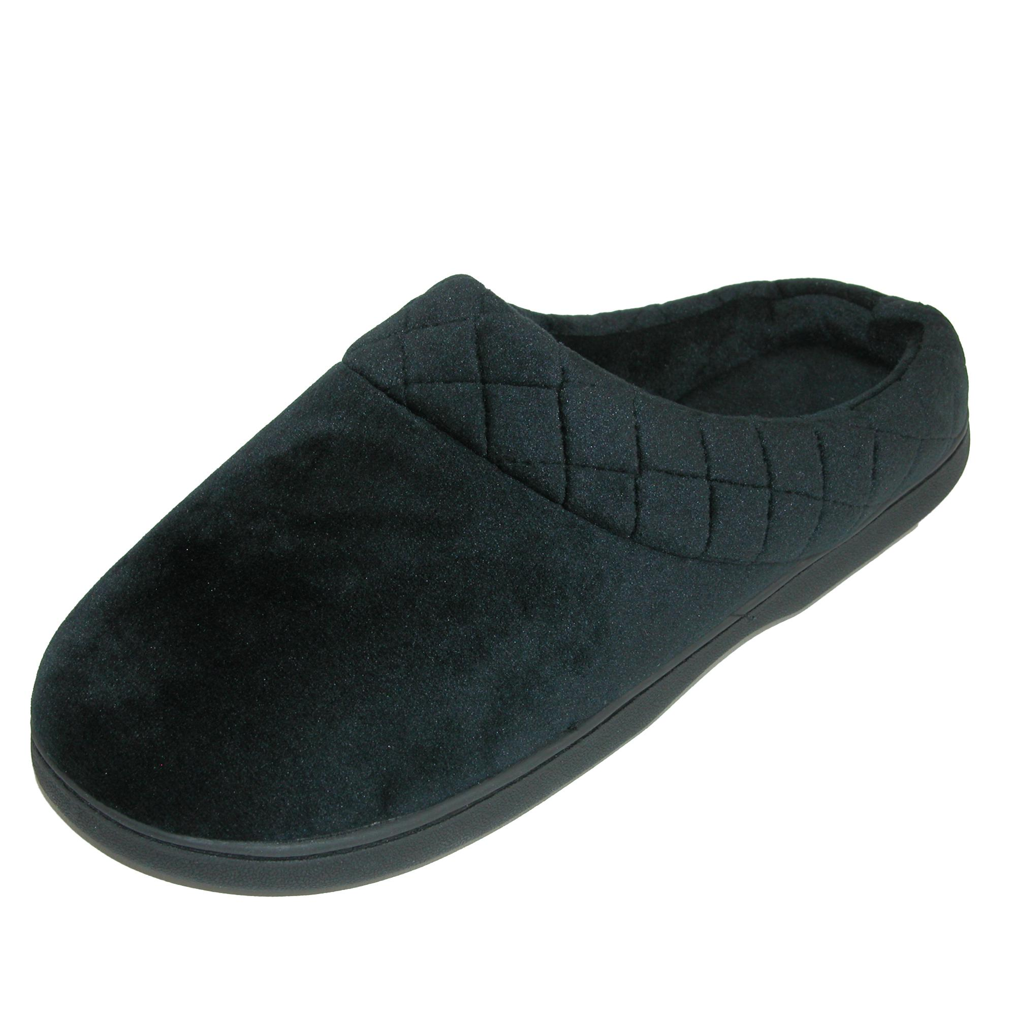 New-Dearfoams-Women-039-s-Microfiber-Velour-Clog-Slipper-with-Quilt-Detail thumbnail 4