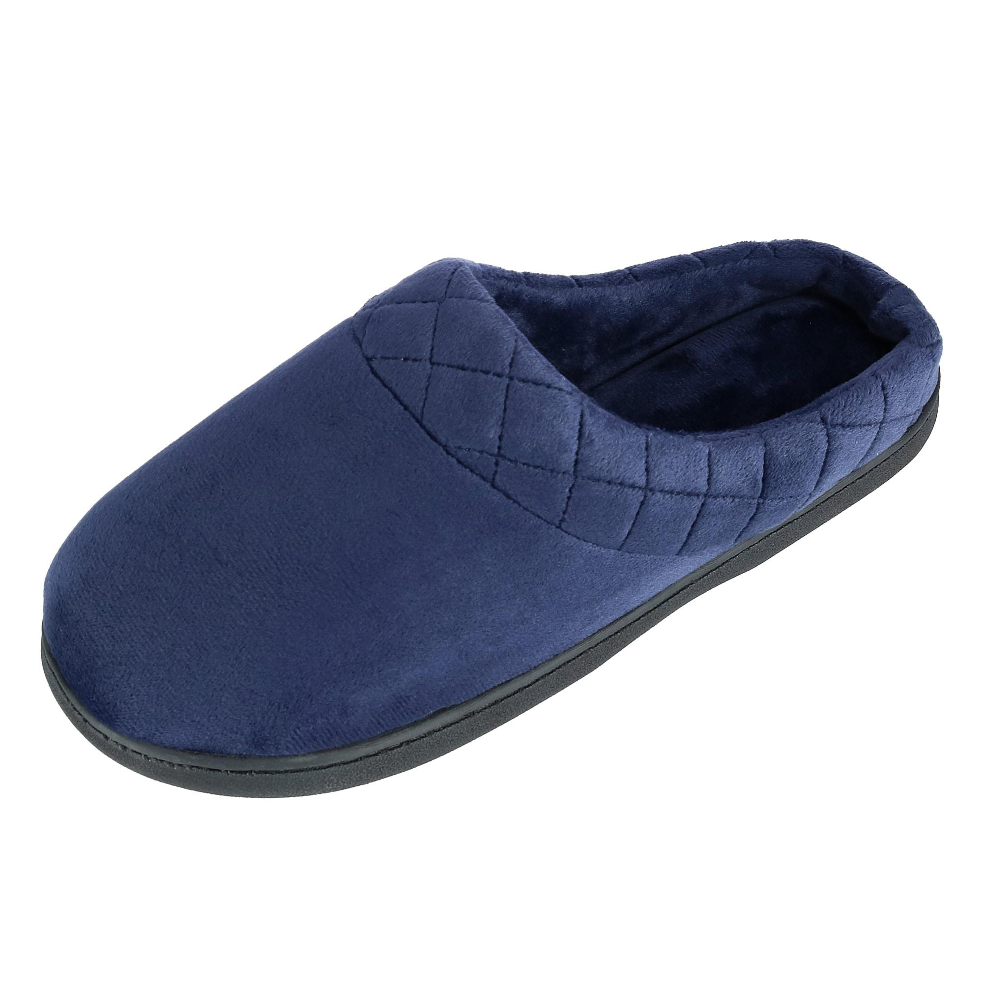 New-Dearfoams-Women-039-s-Microfiber-Velour-Clog-Slipper-with-Quilt-Detail thumbnail 9