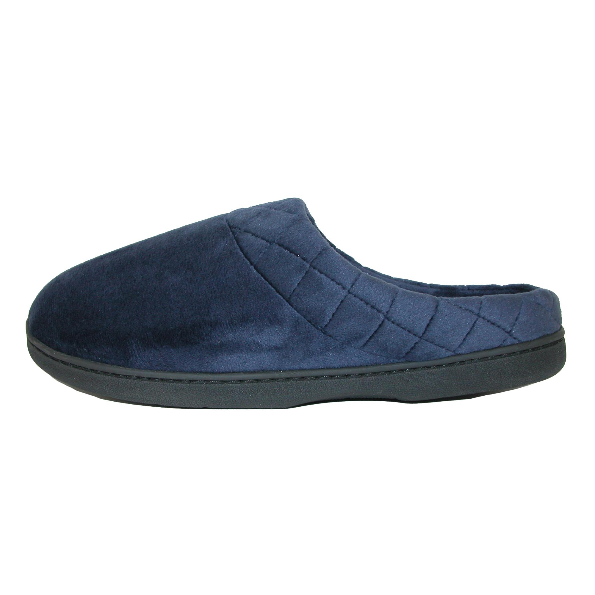 New-Dearfoams-Women-039-s-Microfiber-Velour-Clog-Slipper-with-Quilt-Detail thumbnail 10