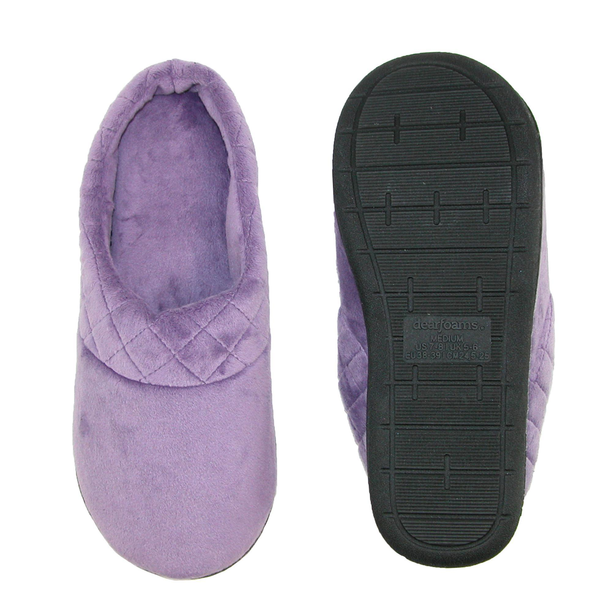 New-Dearfoams-Women-039-s-Microfiber-Velour-Clog-Slipper-with-Quilt-Detail thumbnail 20