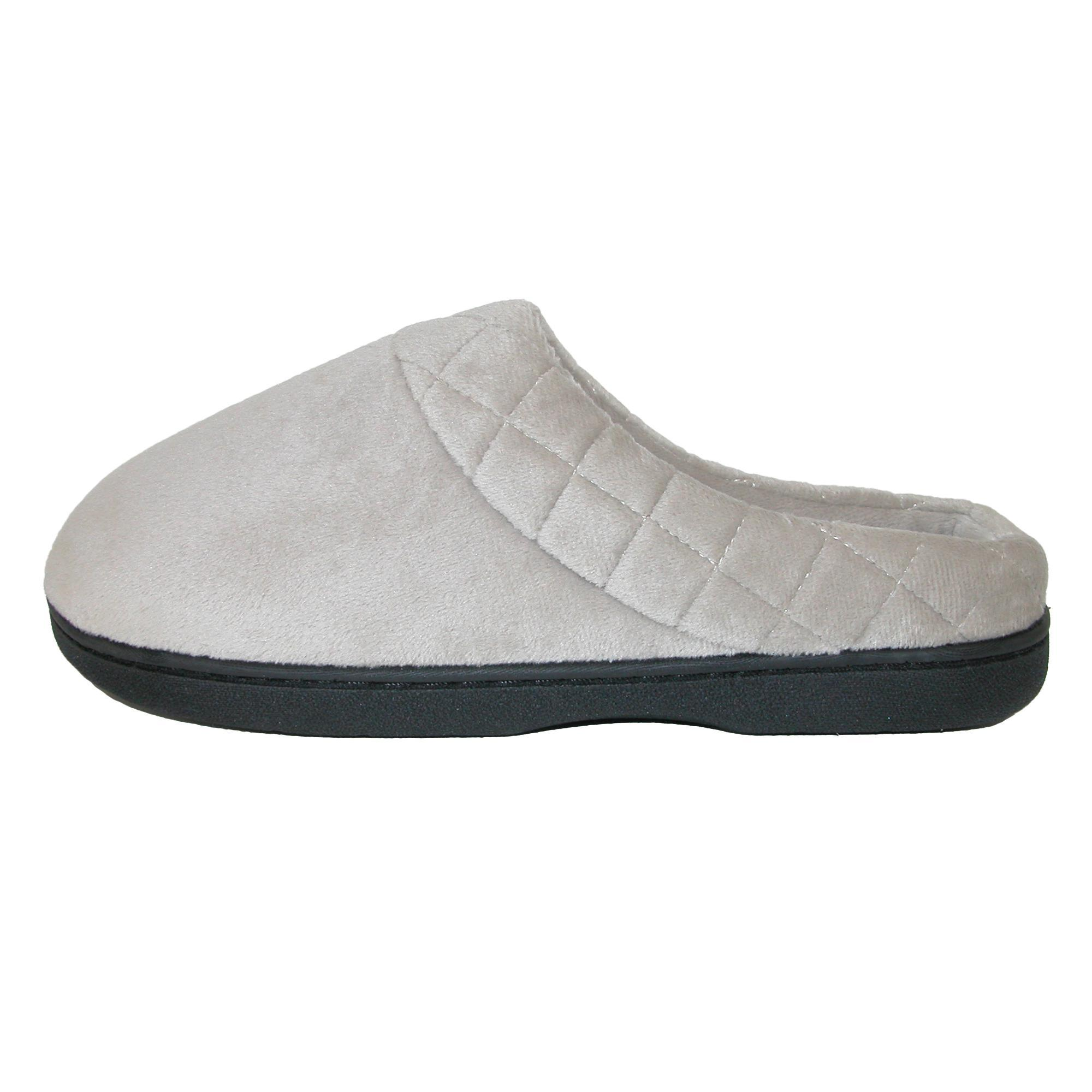 New-Dearfoams-Women-039-s-Microfiber-Velour-Clog-Slipper-with-Quilt-Detail thumbnail 14