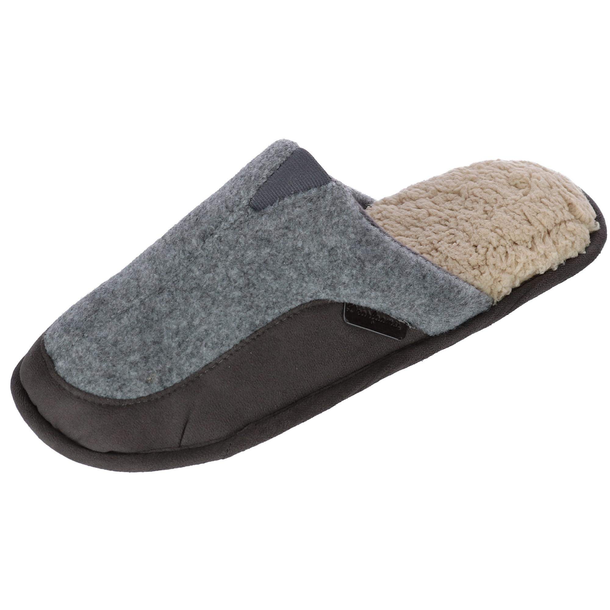 Dearfoams Mens Scuff Slippers With Memory Foam