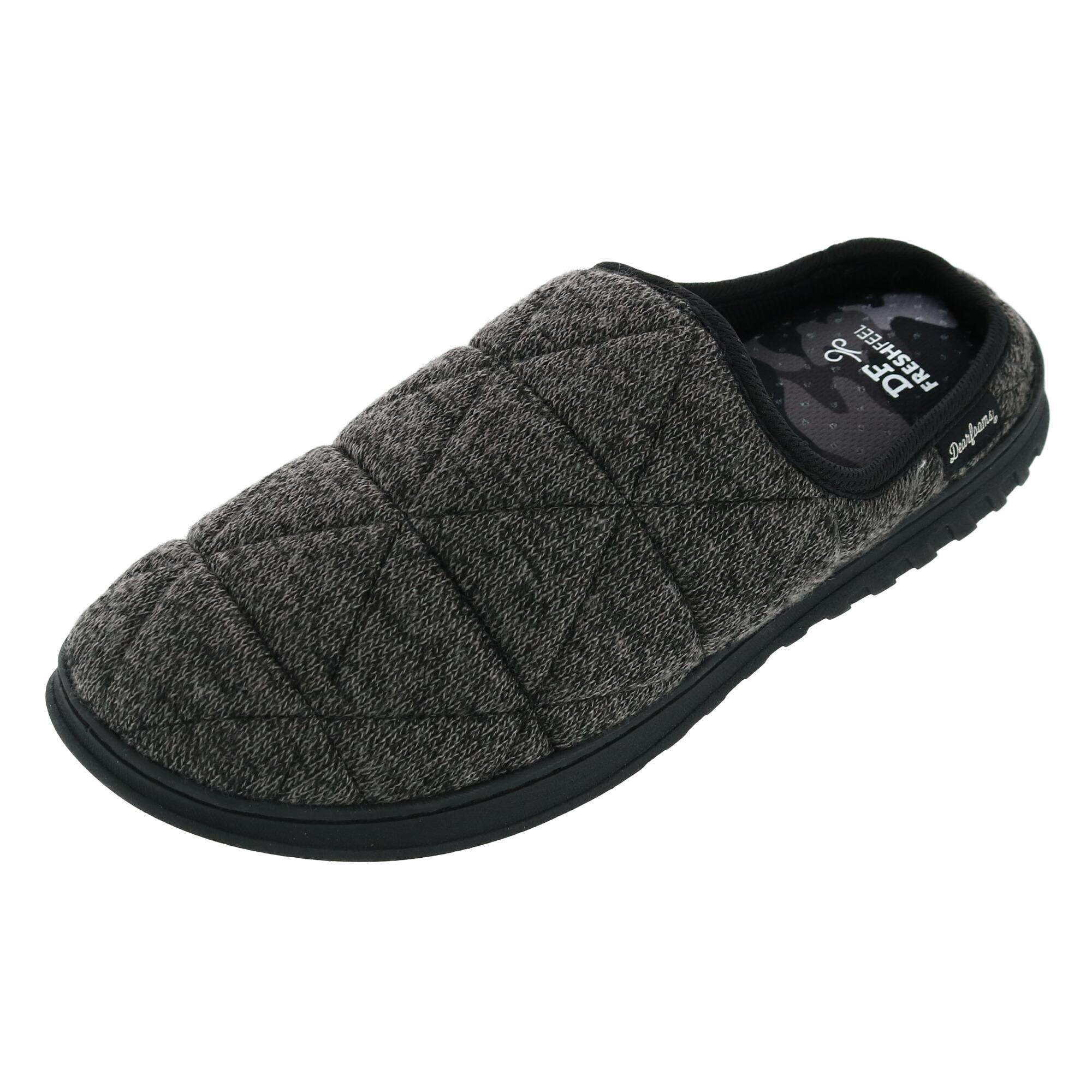 Fanture Men's Memory Foam Slipper Slip On Clog Moccasin Suede RRP $40