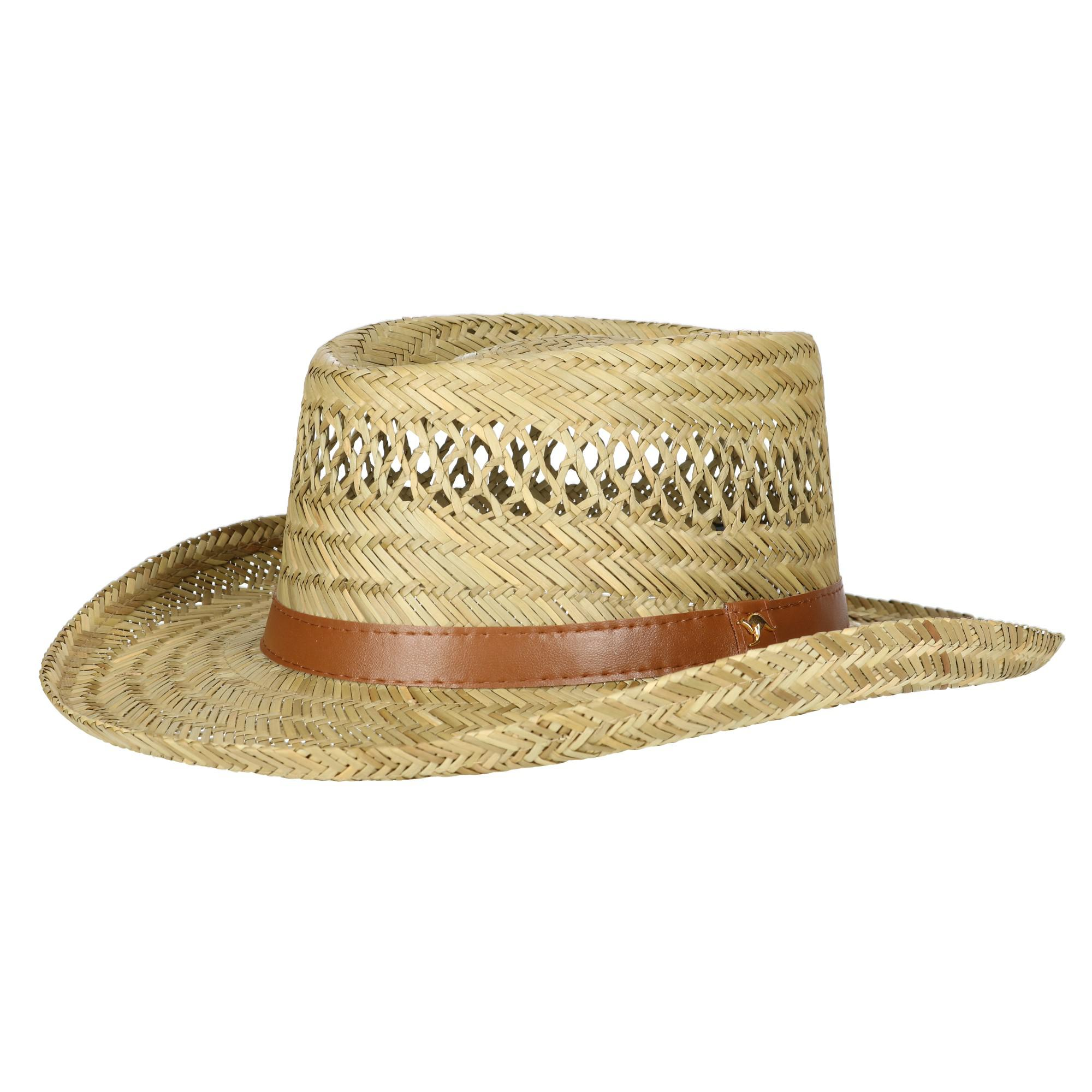 a851622fae6608 Dorfman Pacific Rush Straw Lightweight Gambler Hat with Wide Brim