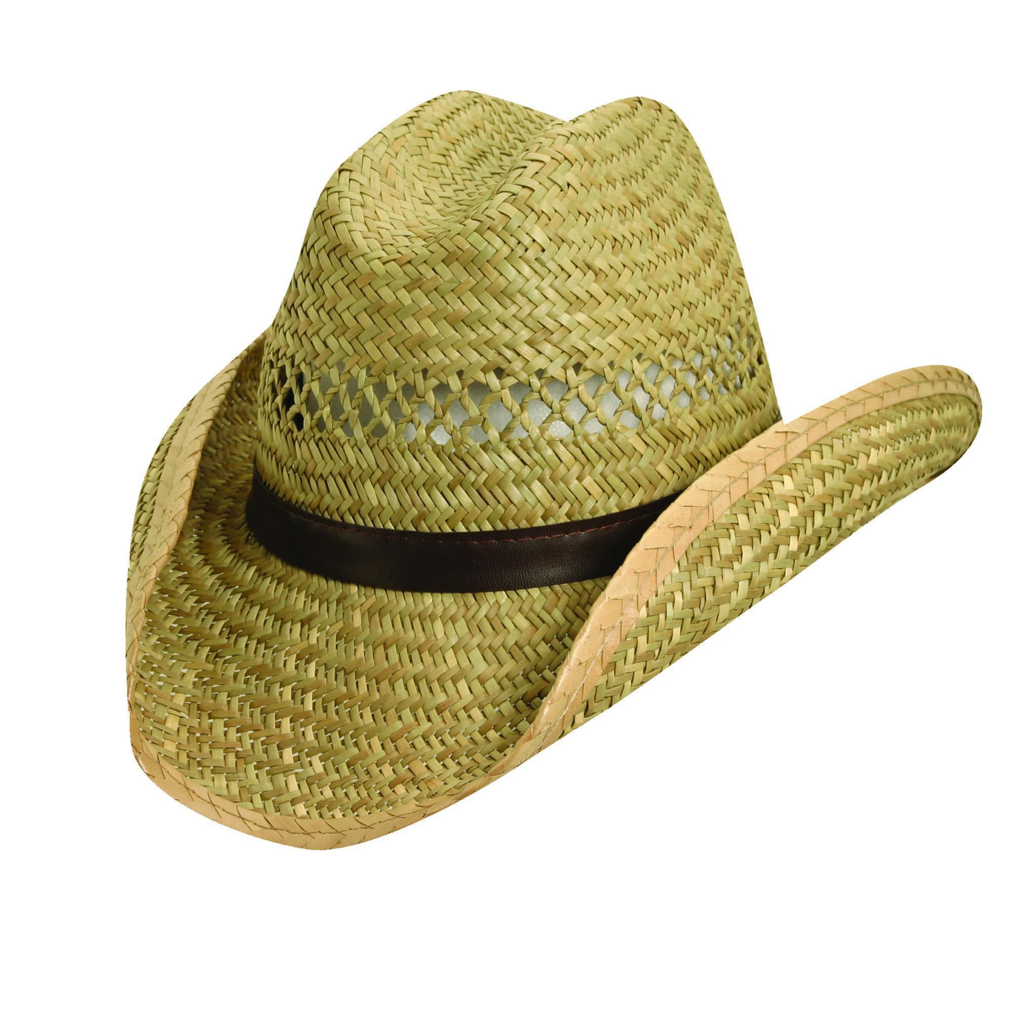 a8ecee67479 Dorfman Pacific Rush Straw 3.5 Inch Shapeable Brim Western Cowboy Hat