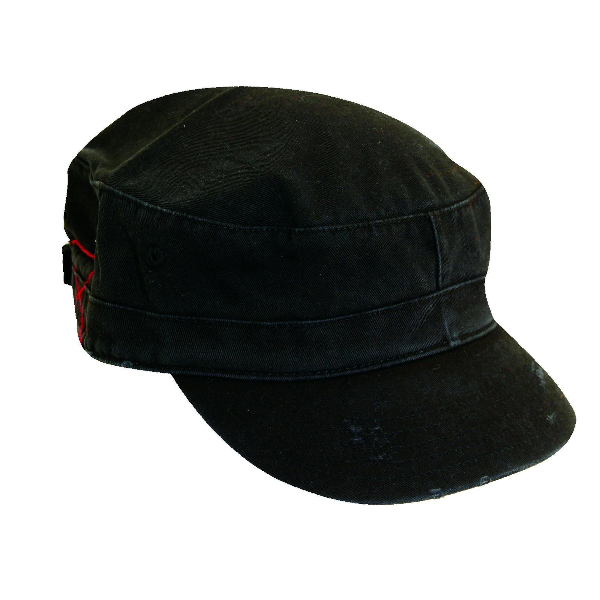 Dorfman_Pacific_Distressed_Cotton_Military_Cadet_Hat_-