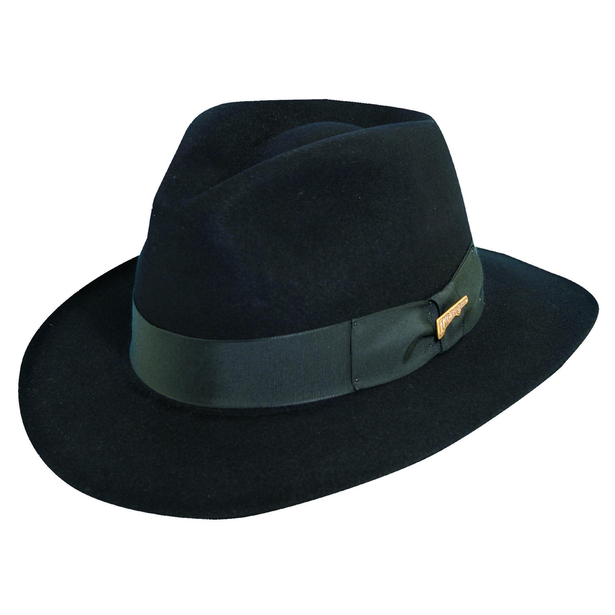 6dfebe4bc27cd Dorfman Pacific Men s Fur Felt Indiana Jones 2.5 Inch Brim Fedora Hat
