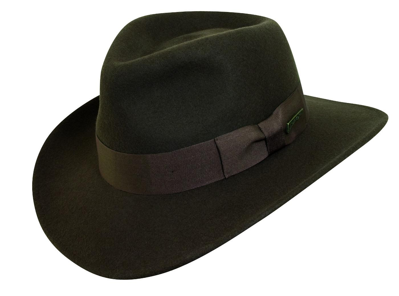 2ce7b6b9d2dd6 Dorfman Pacific Men s Indiana Jones Wool Felt Crushable Outback Hat