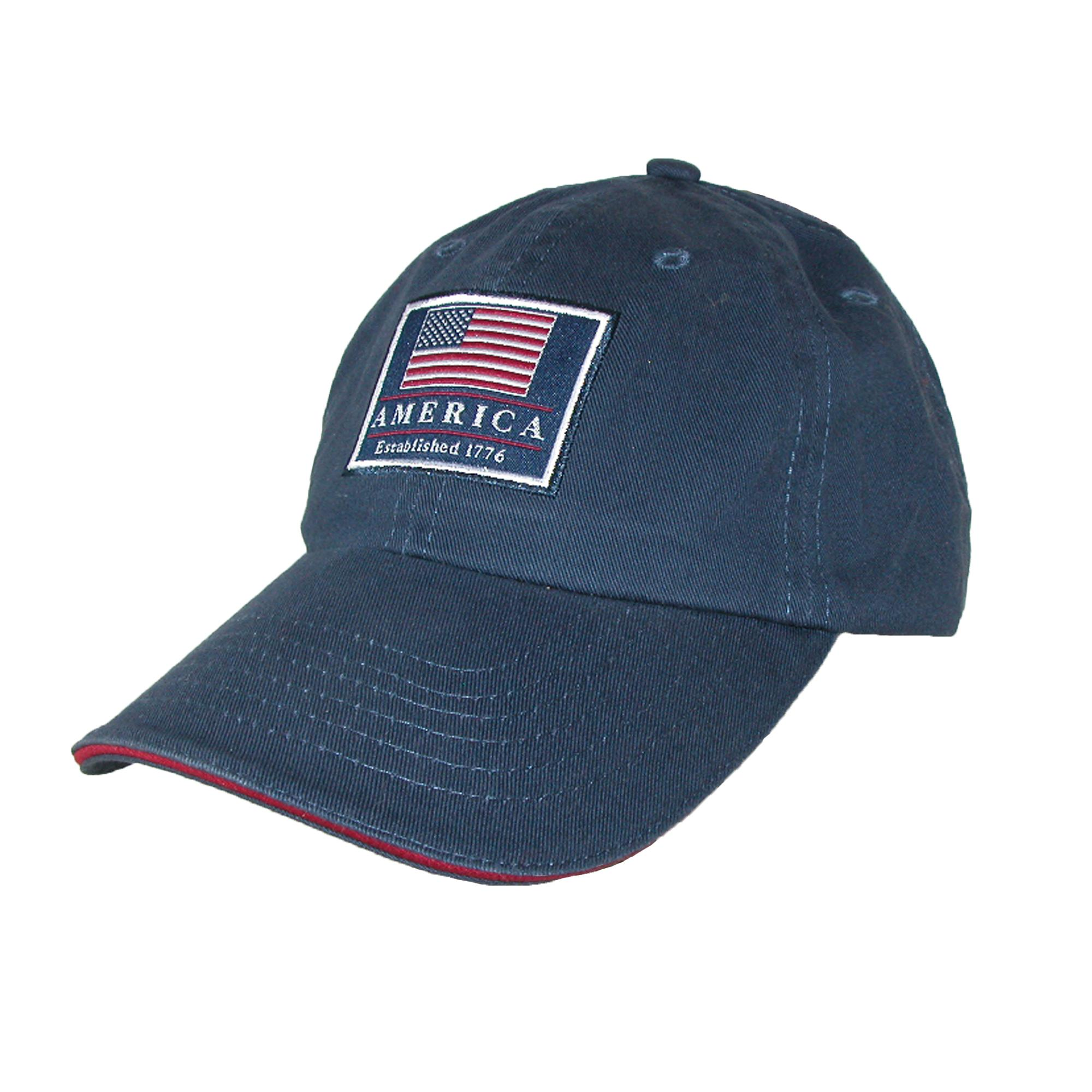 7c8e6426295 Details about New Dorfman Pacific Cotton Classic American Flag USA Baseball  Cap