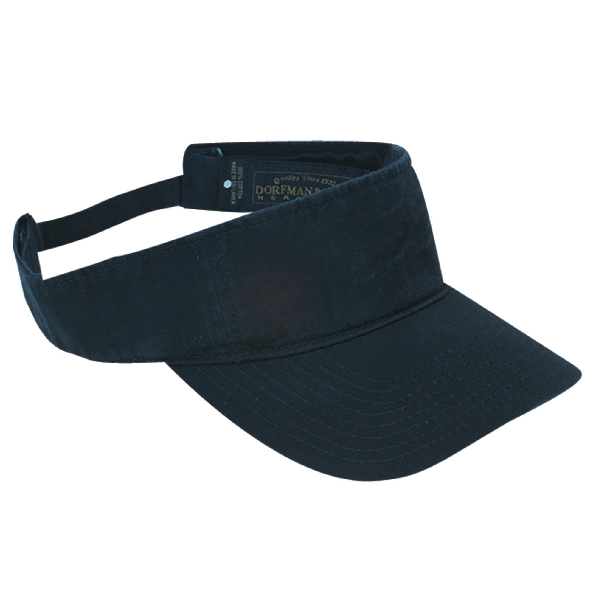DPC_Outdoor_Design_Cotton_Washed_Twill_Visor_Cap_with_Hook_and_Loop