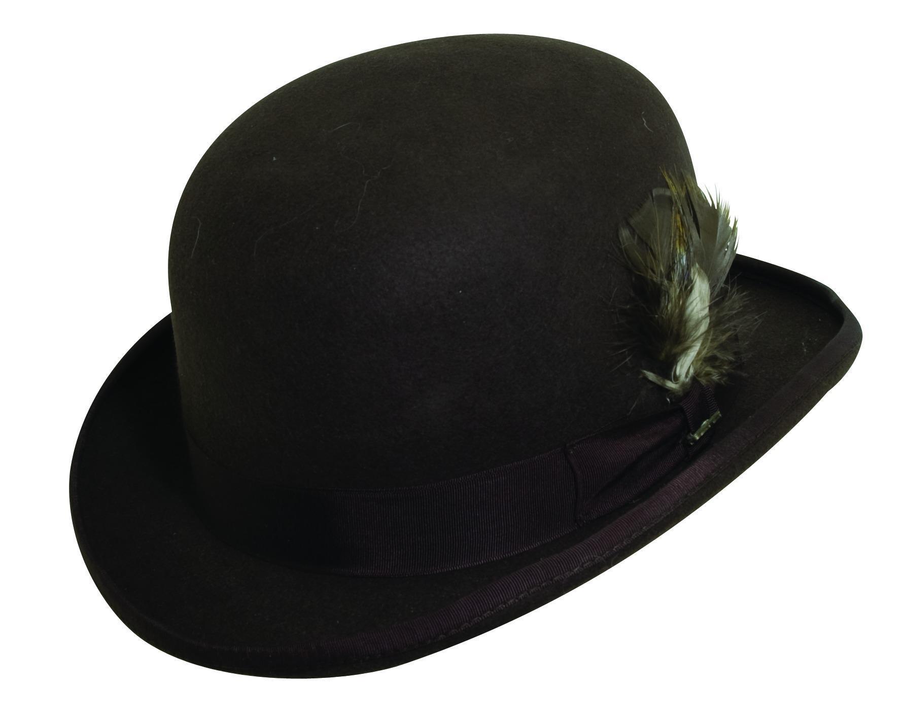 a11577a0c3f Scala Men s Wool Felt Derby Bowler Hat
