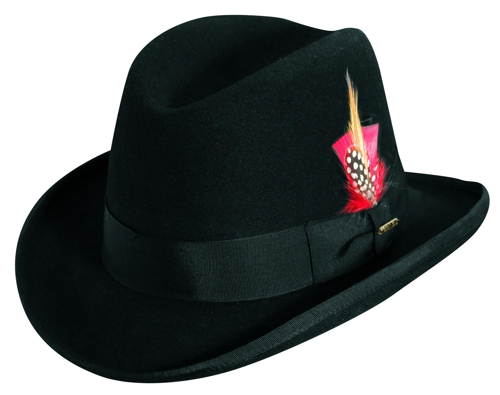 2743d67c211 Scala Men s Wool Felt Winter Homburg Hat