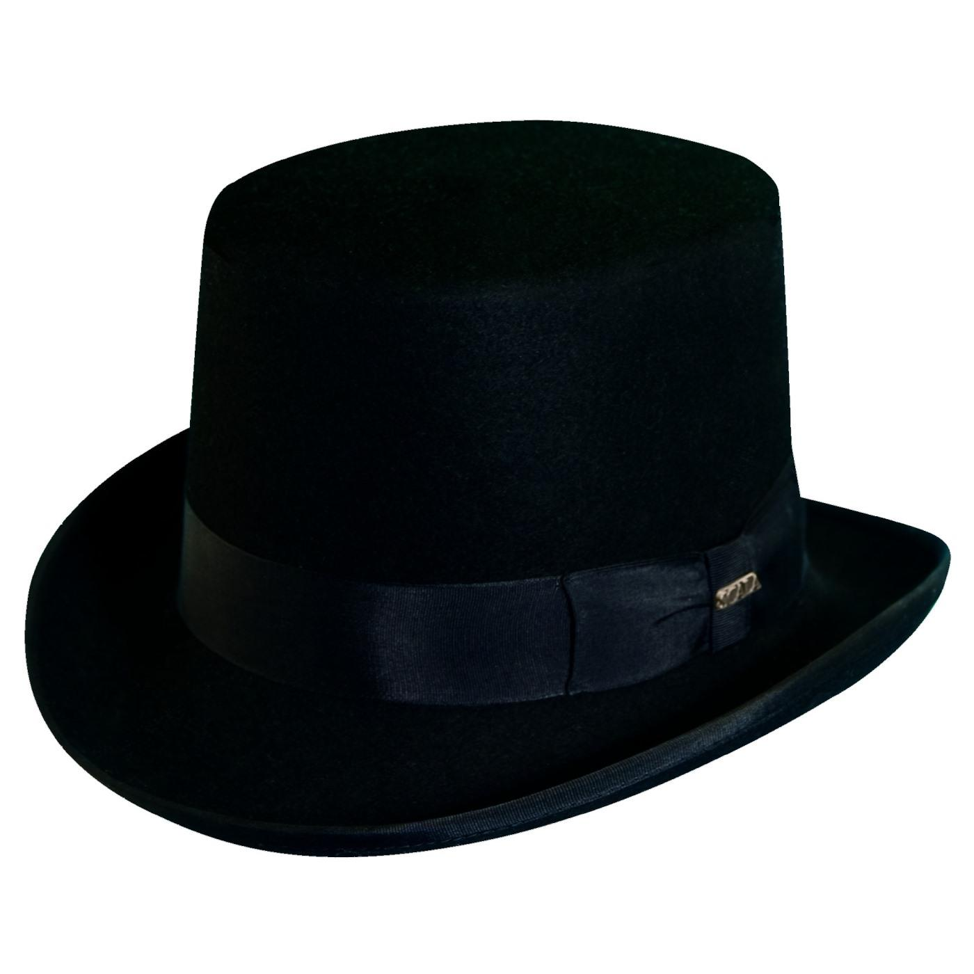 2f50cb9e047600 Dorfman Pacific Men's Wool Felt Traditional Top Hat