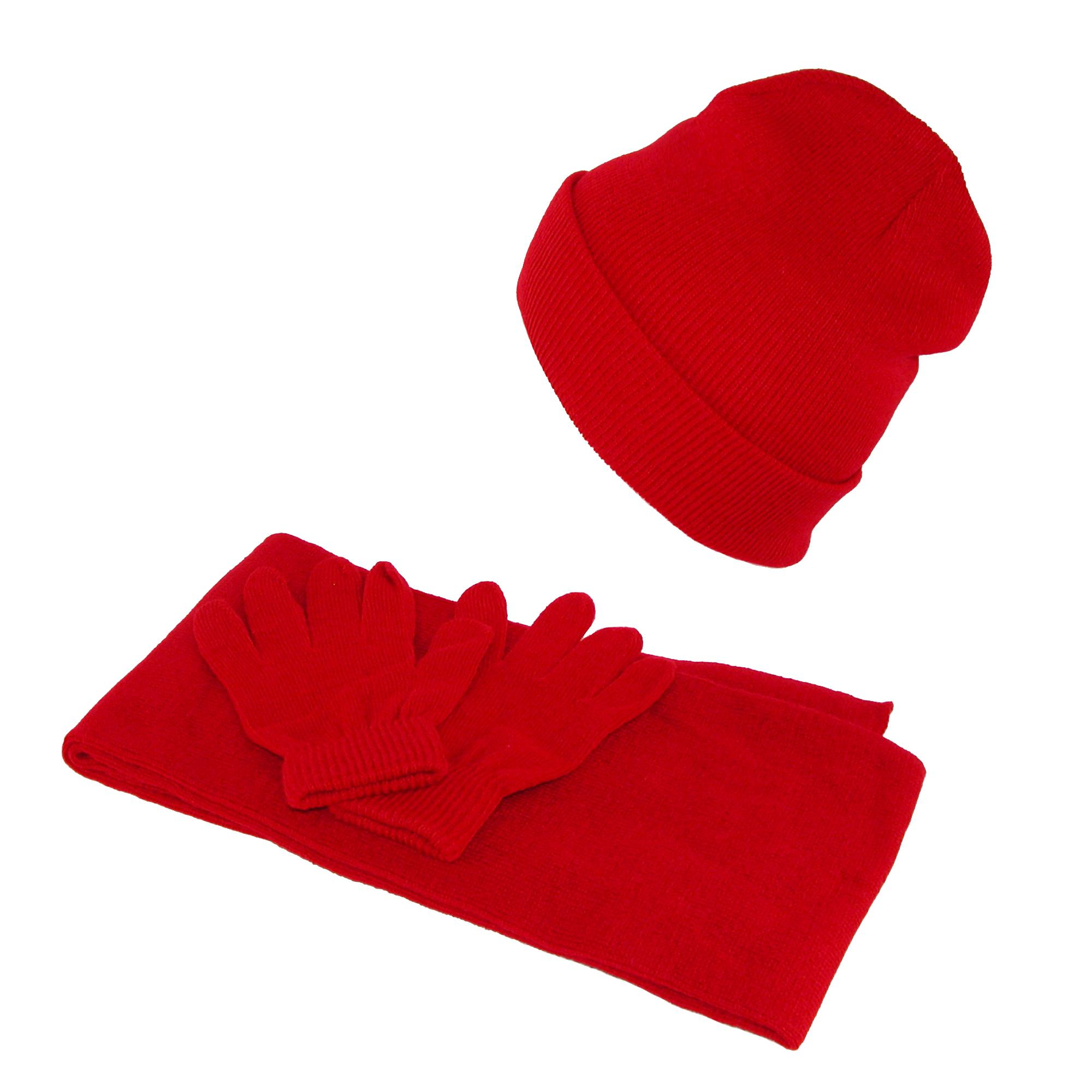 CTM_Kids'_Stretch_Hat_Gloves_and_Scarf_Winter_Set_-__one_size