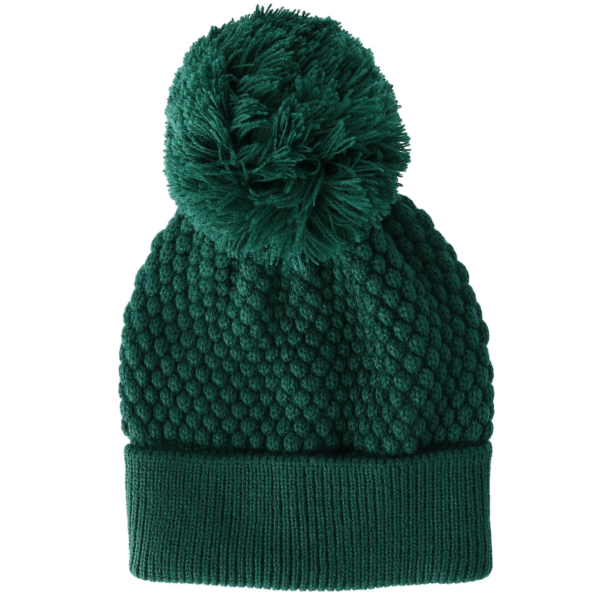 New-David-amp-Young-Women-039-s-Popcorn-Knit-Beanie-Hat-with-Pom