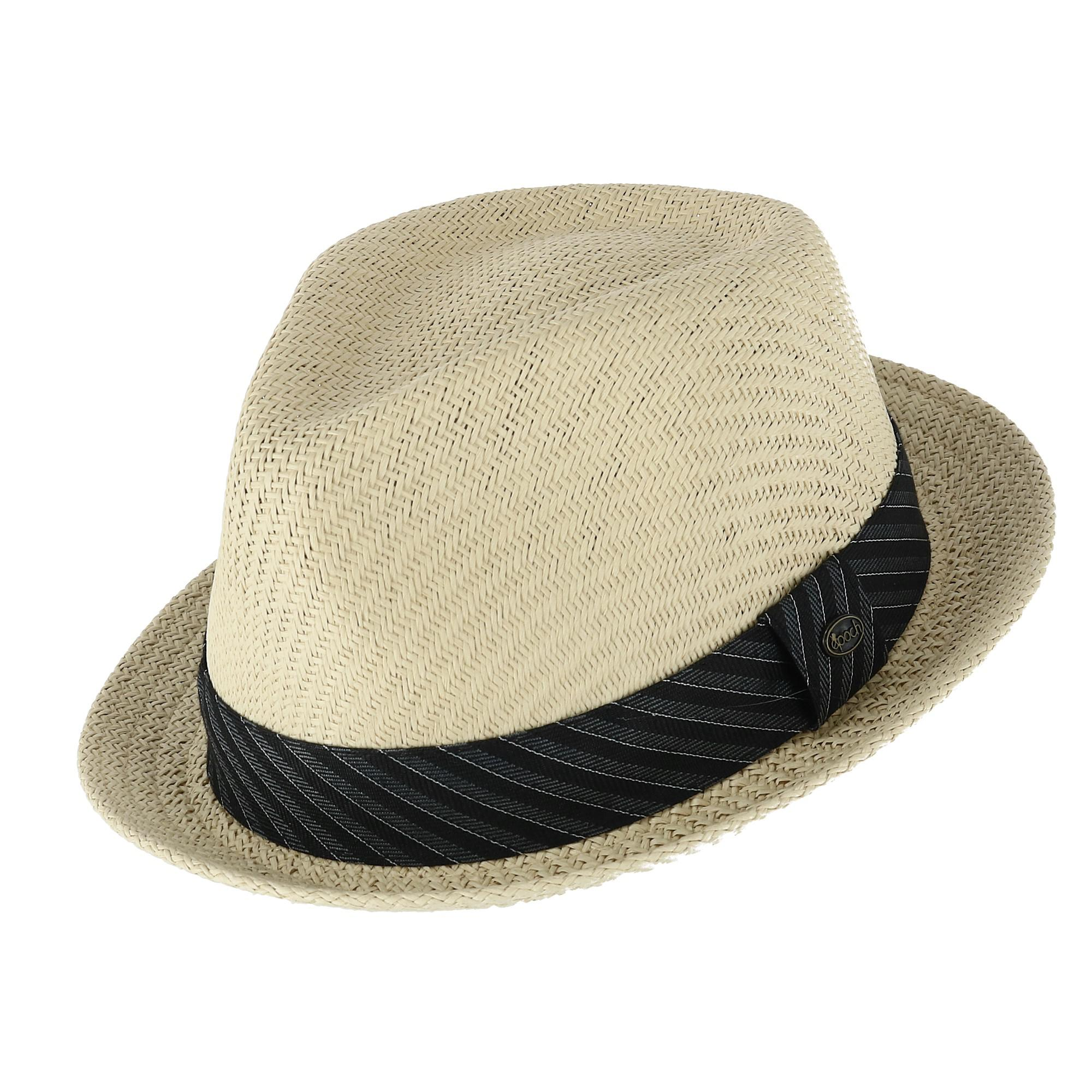 474d68a0ee Details about New Epoch Hats Company Men's Small Brim Fedora with Striped  Fabric Brand