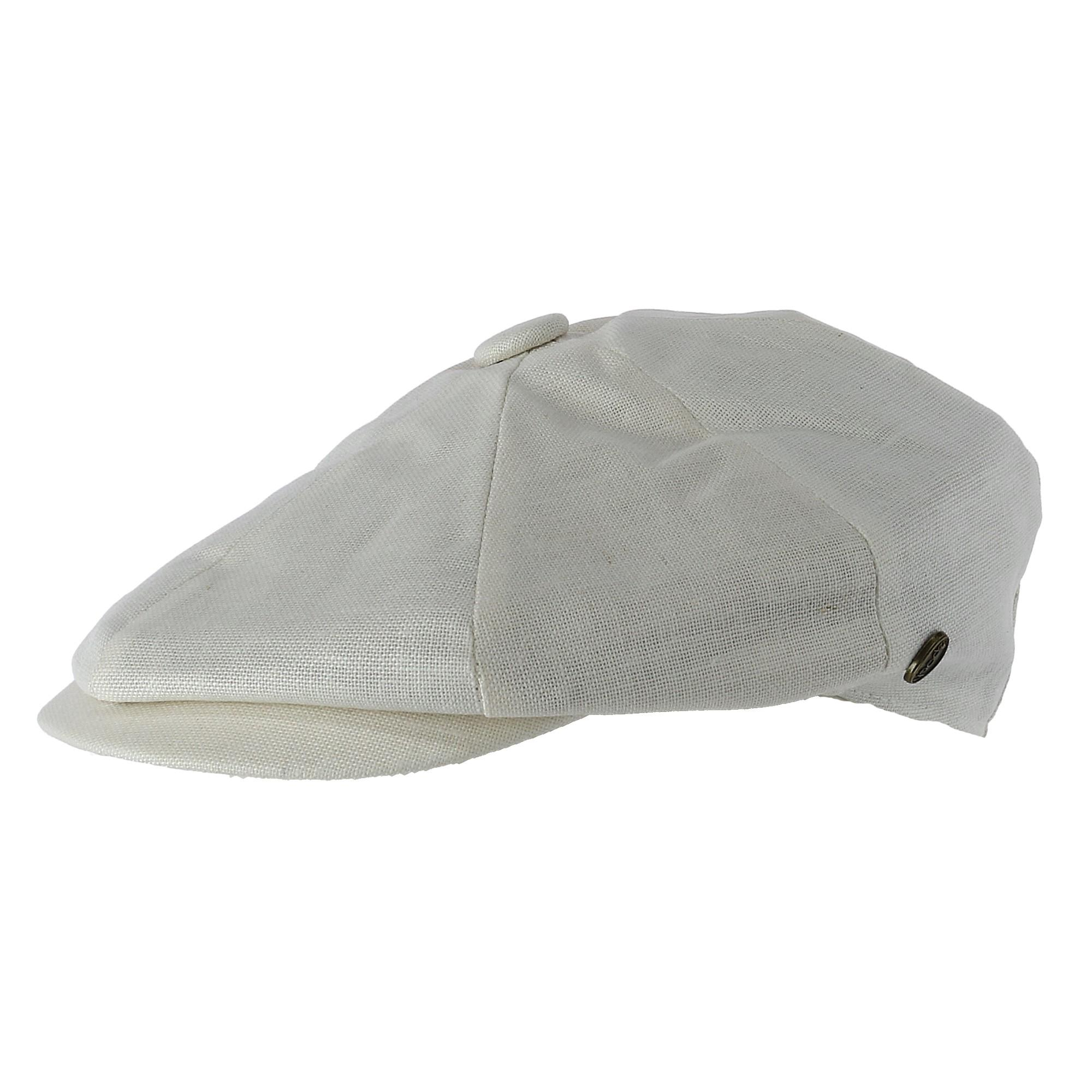 d138036b607c8 Details about New Epoch Hats Company Men s Linen Newsboy Cap