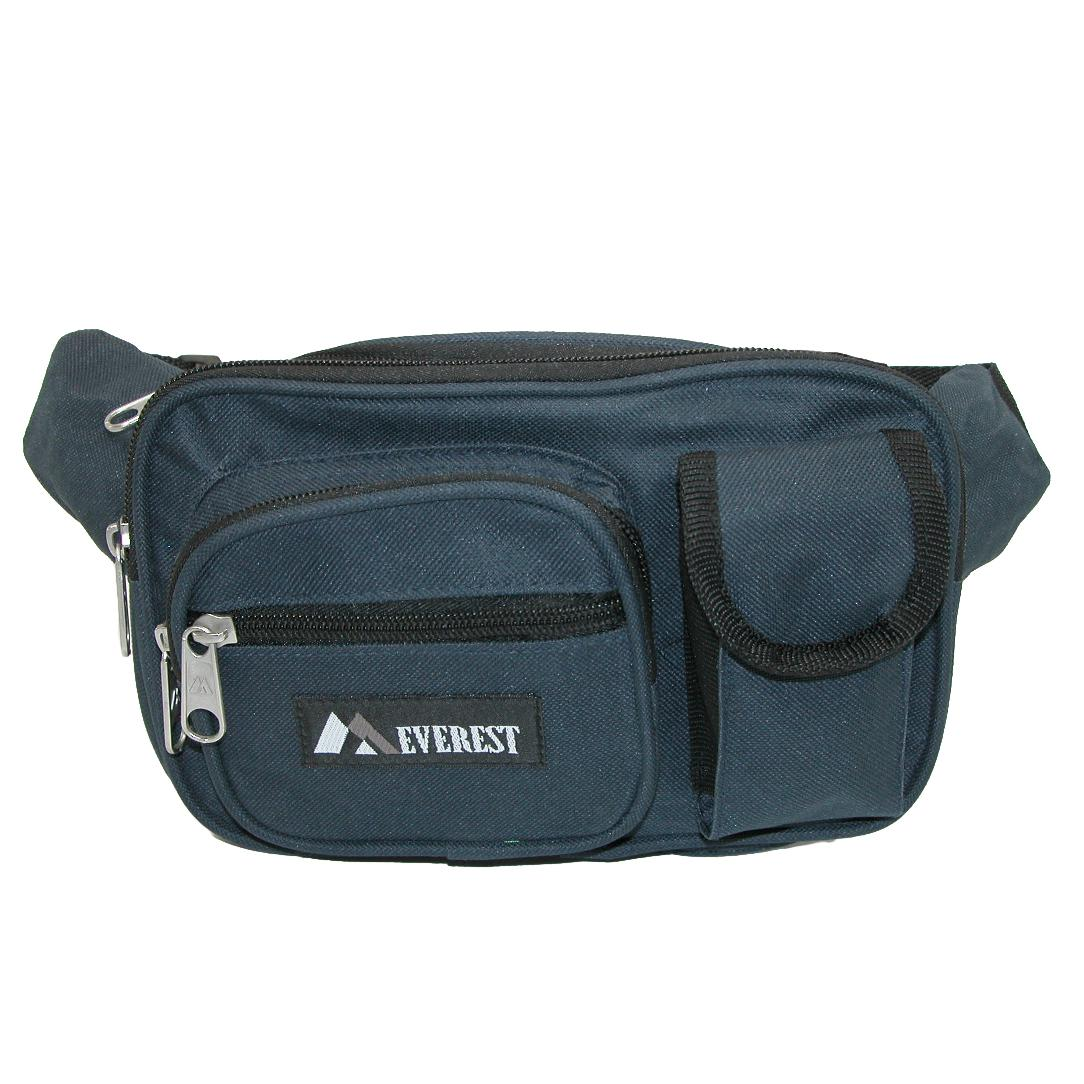 Everest_Fabric_Multiple_Pockets_Waist_Pack_-_Navy_one_size