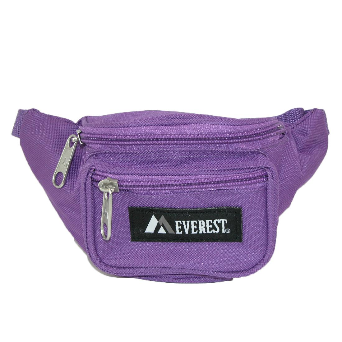 Everest Girls' Fabric Waist Pack Purse - Dark Purple one size (EV-GIRLS-DPL EV-GIRLS) photo