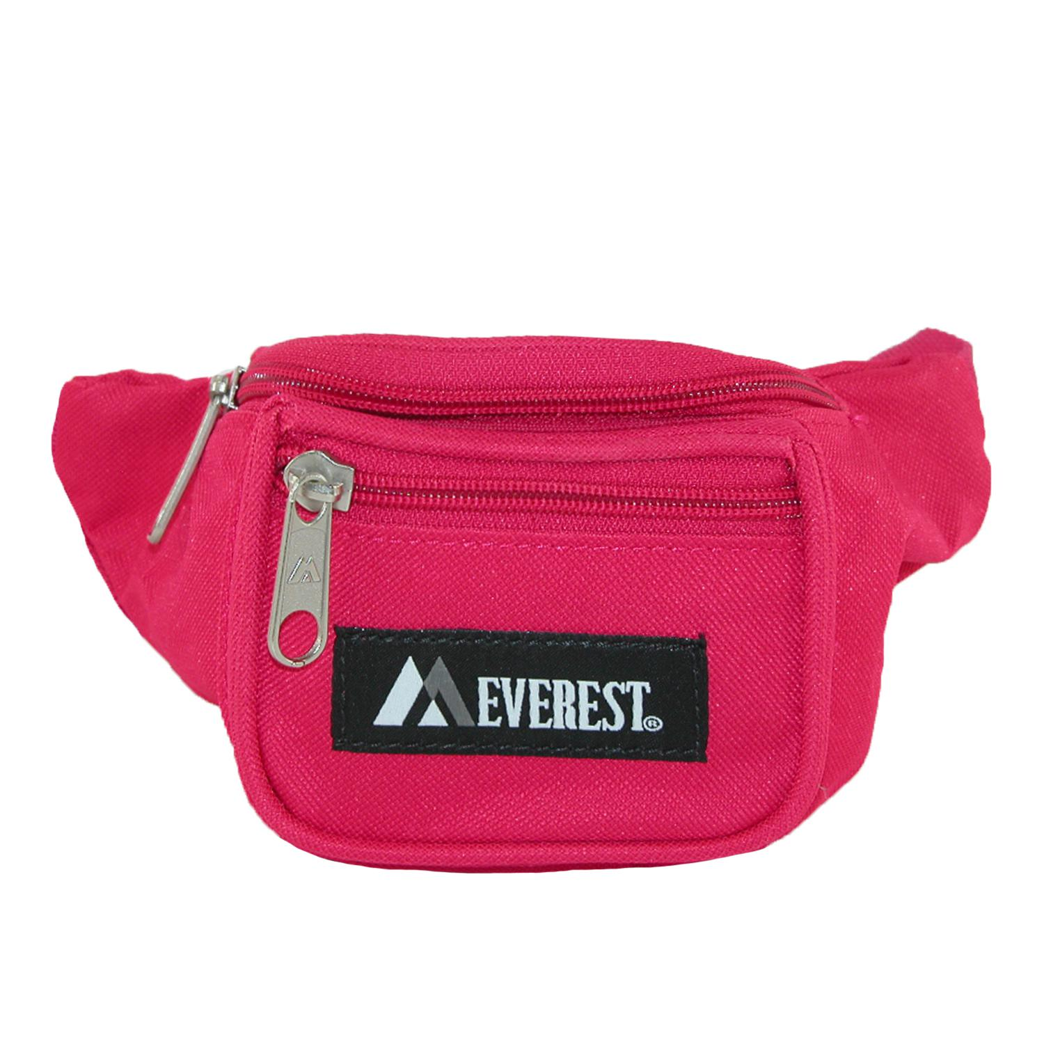 Everest Girls' Fabric Waist Pack Purse - Hot Pink one size (EV-GIRLS-HPK EV-GIRLS) photo