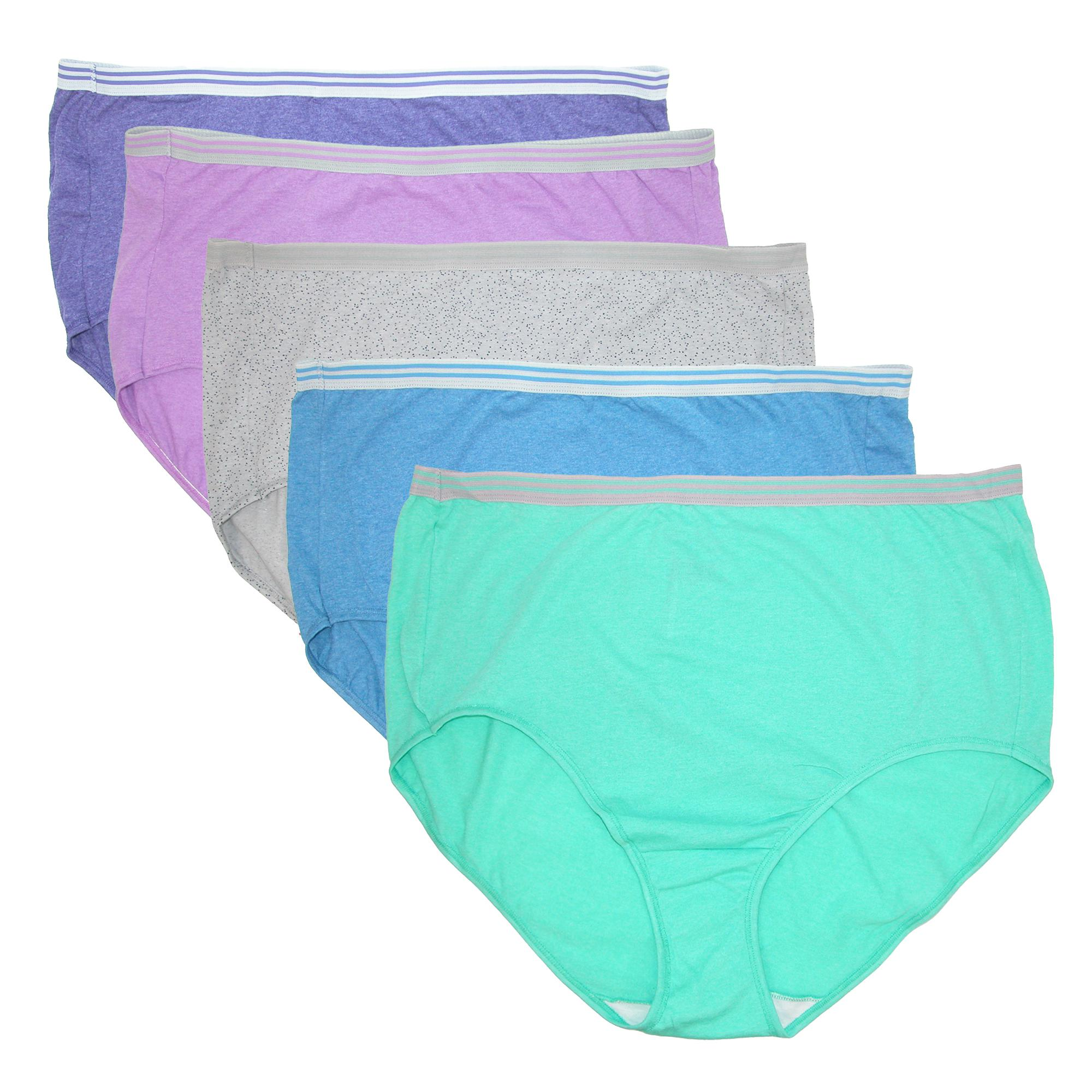 7d6ffdba16 Details about New Fruit of the Loom Women s Plus Size Heathered Briefs  Underwear (5 Pair Pack)