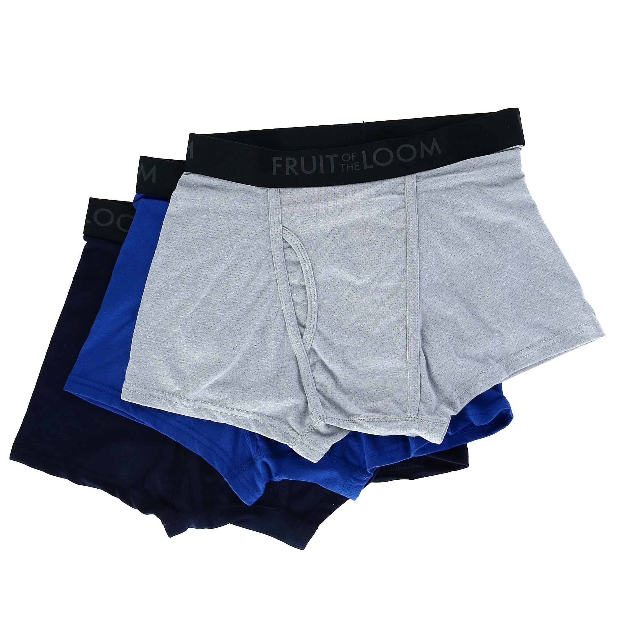 ba9f1148bf68 New Fruit of the Loom Men's Breathable Short Leg Boxer Brief (3 Pair ...
