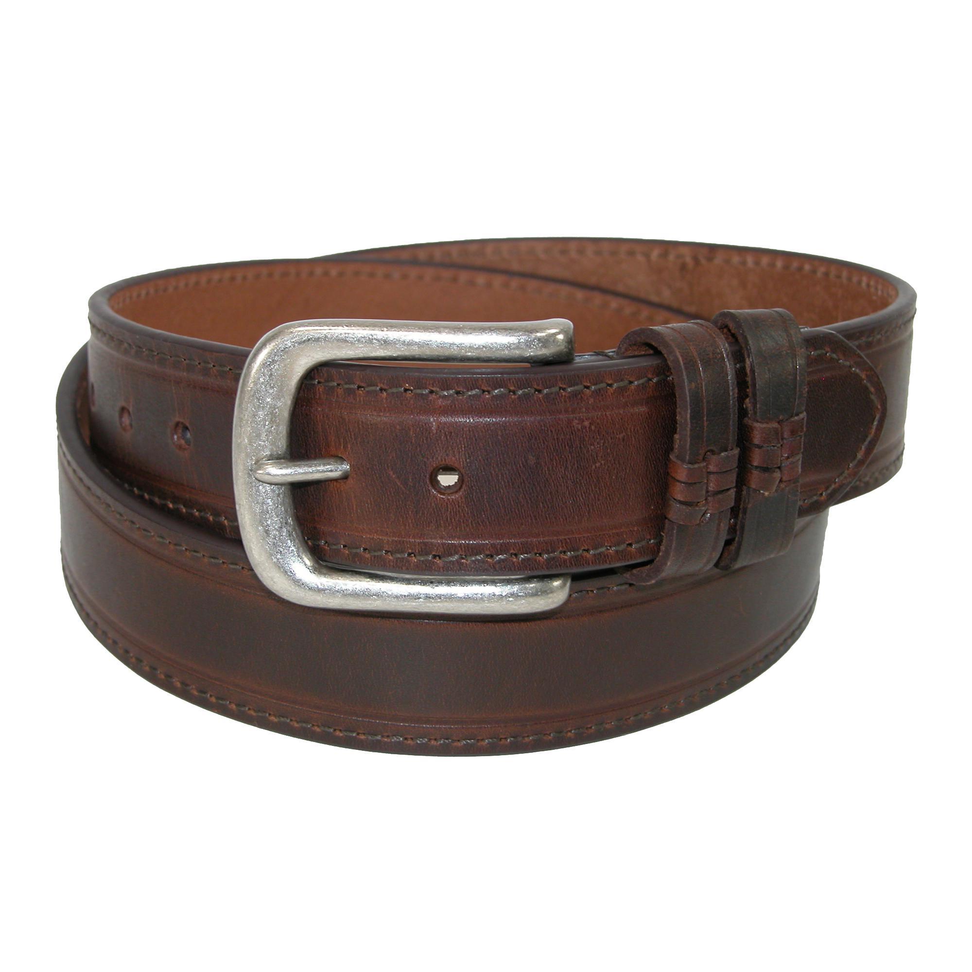 Danbury Mens Leather Double Loop Belt
