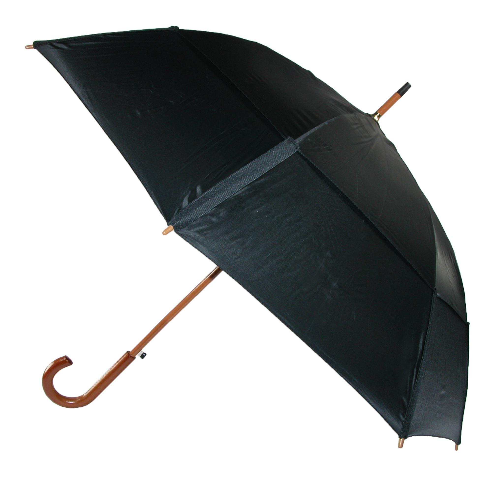Gustbuster Auto Open Vented Stick Umbrella with Hook Hand...