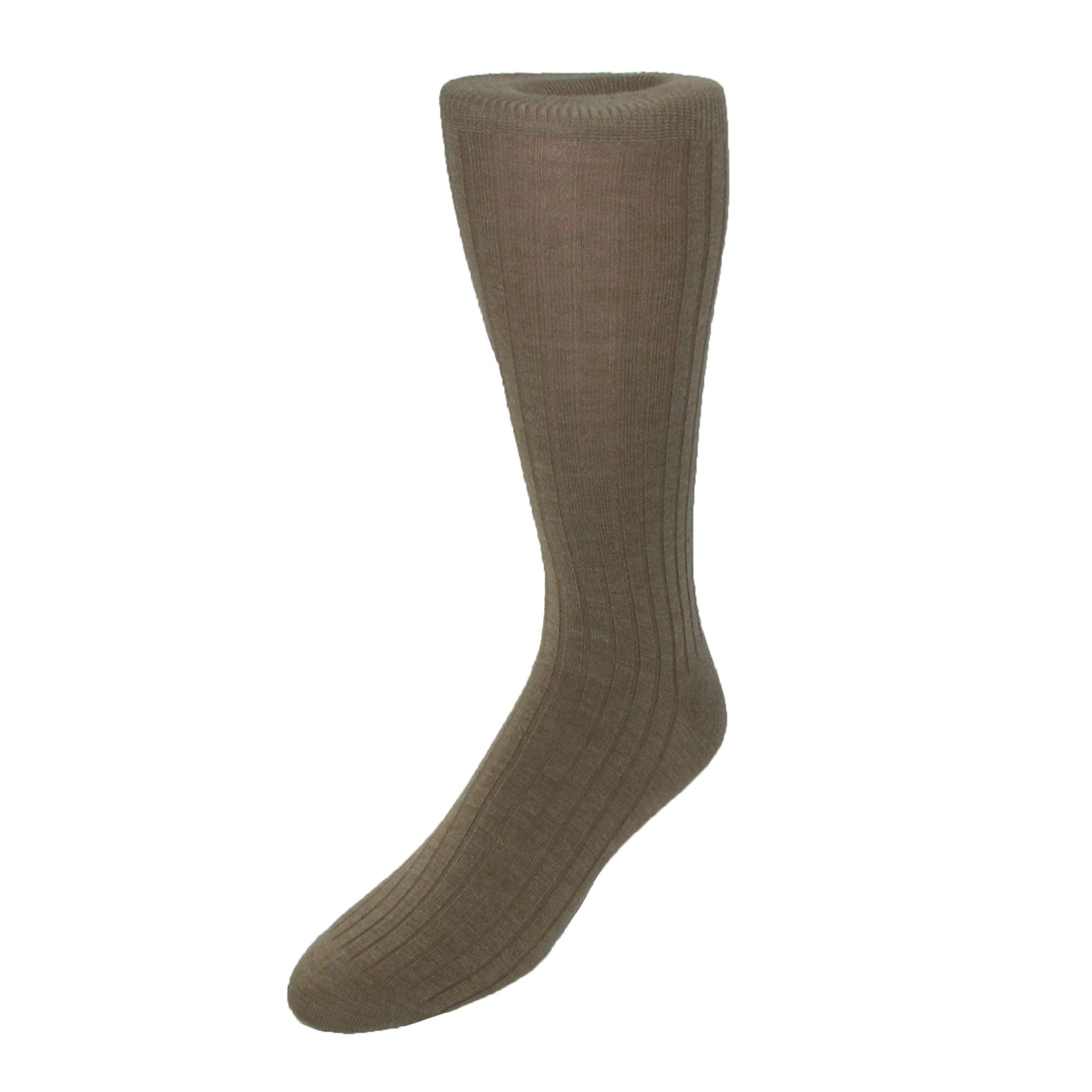 Mens Multi-stripe Knit Crew Socks