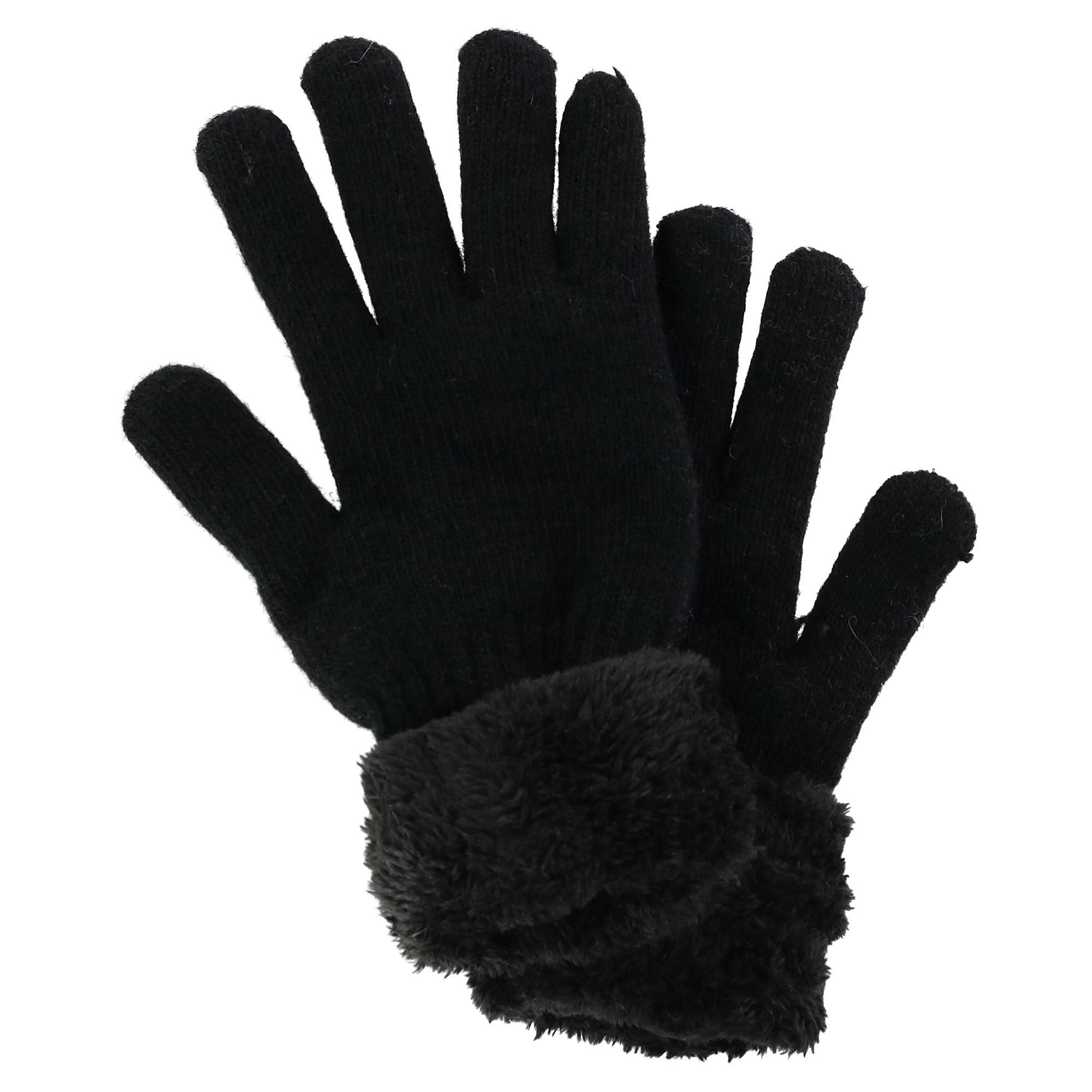 Clear Creek Women's Sherpa Lined Winter Glove - Black one size