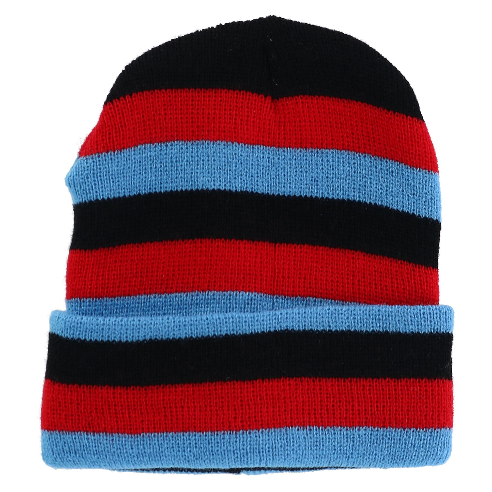 Grand Sierra Kids' Striped Cuff Beanie Cap