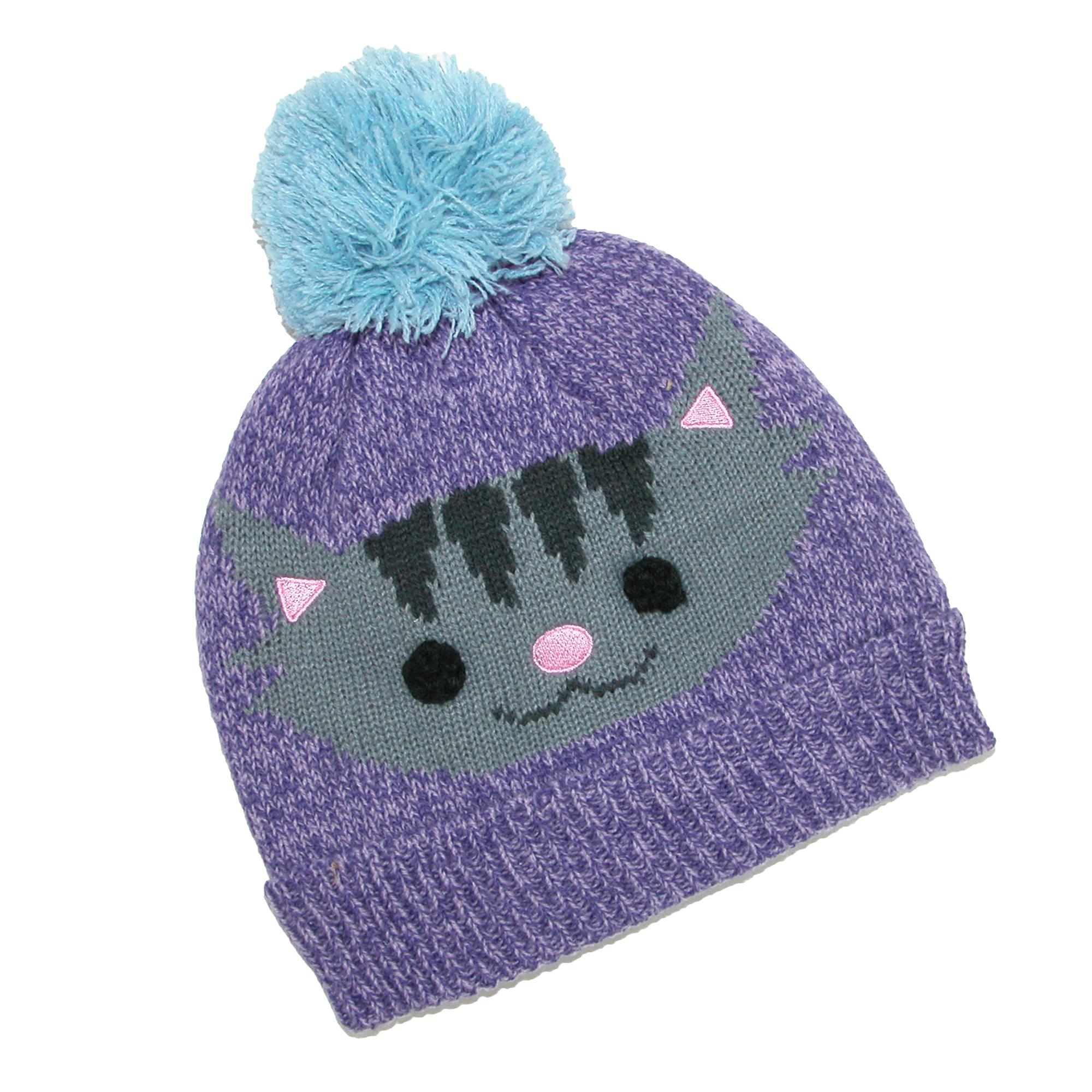 CTM Kids' Cuff Fleece Lined Hat with