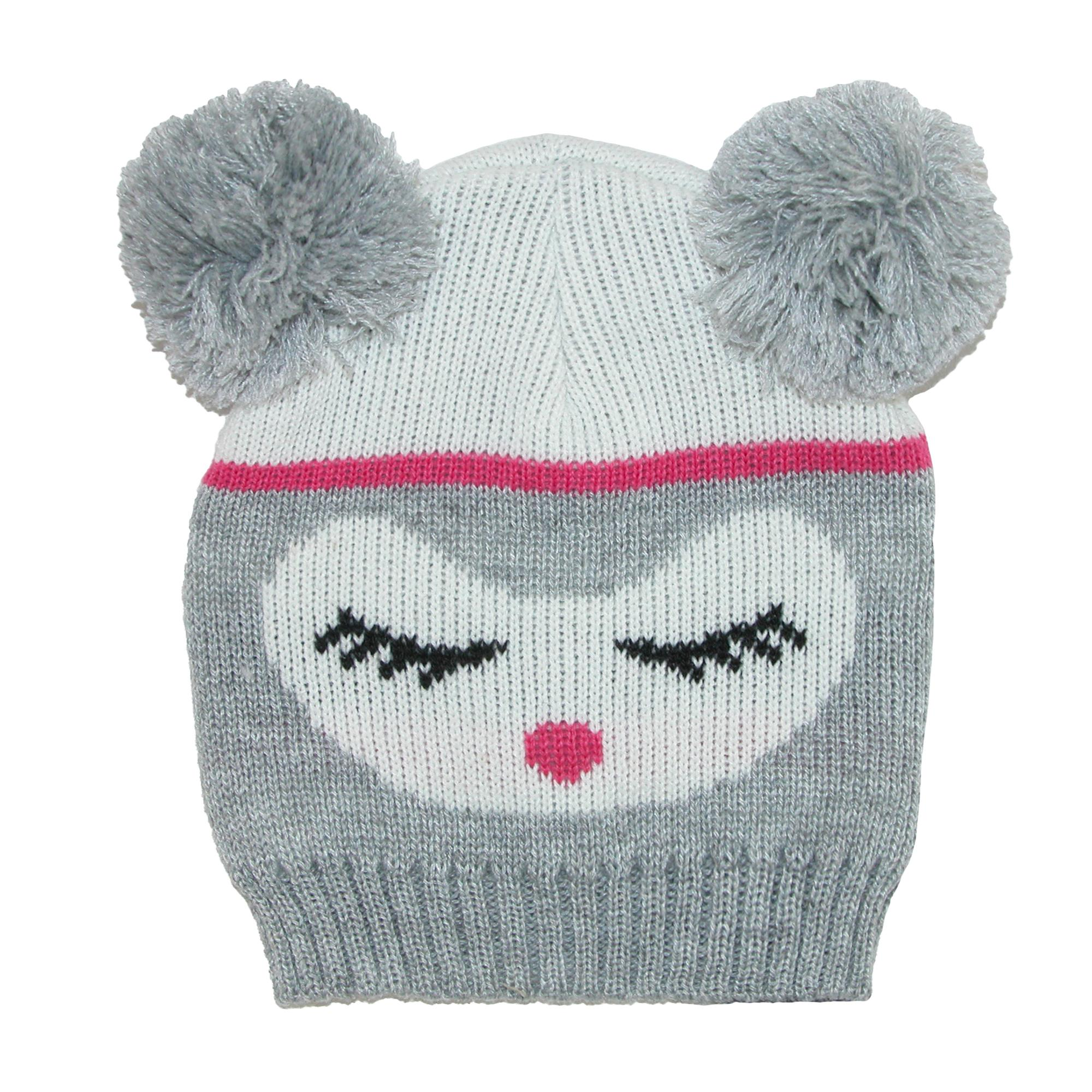 CTM Kids' Knit Animal Face Hat with