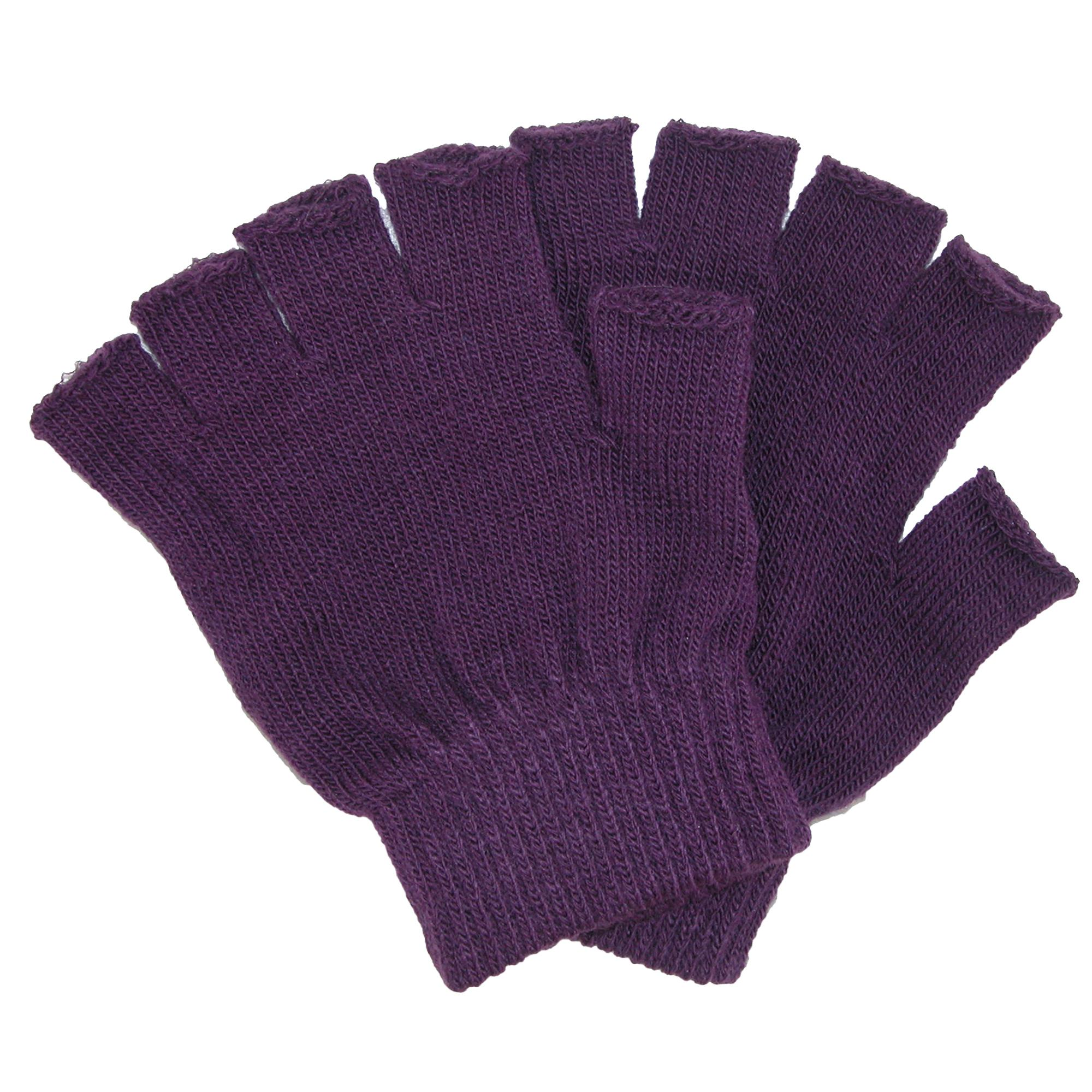 CTM Kid's Stretch Fingerless Gloves