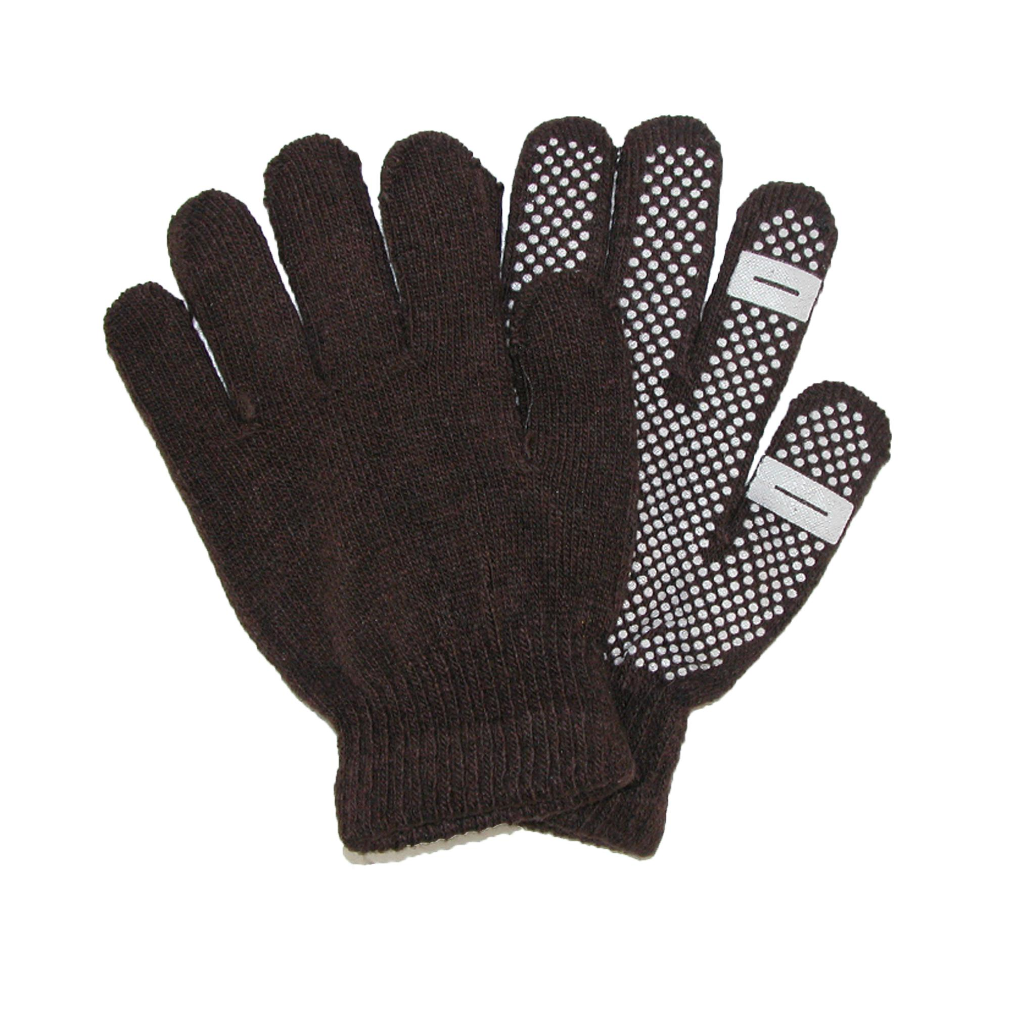 Ctm Womens Grip Knit Texting Winter Gloves