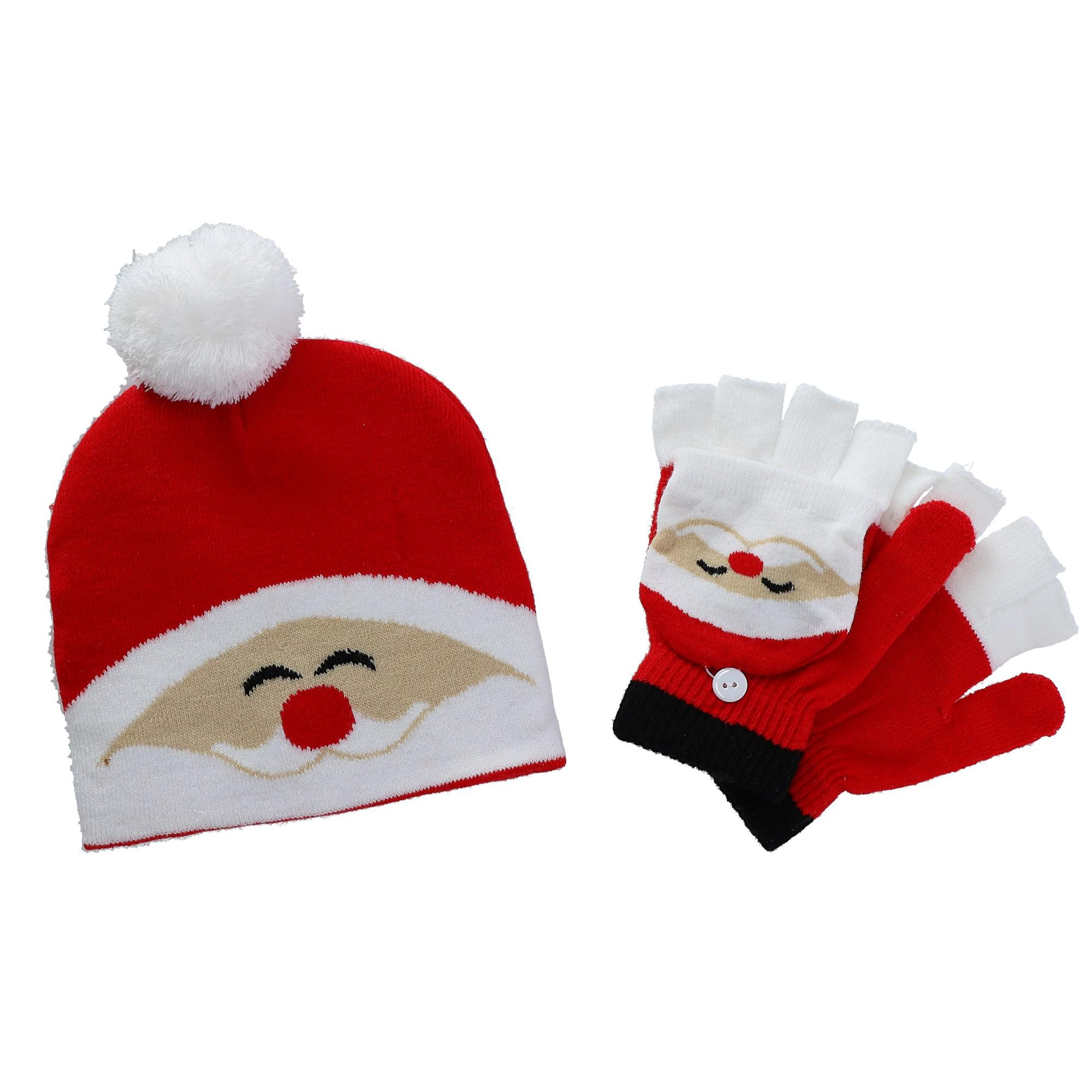 CTM Kids' Winter Themed Hat and Convertible
