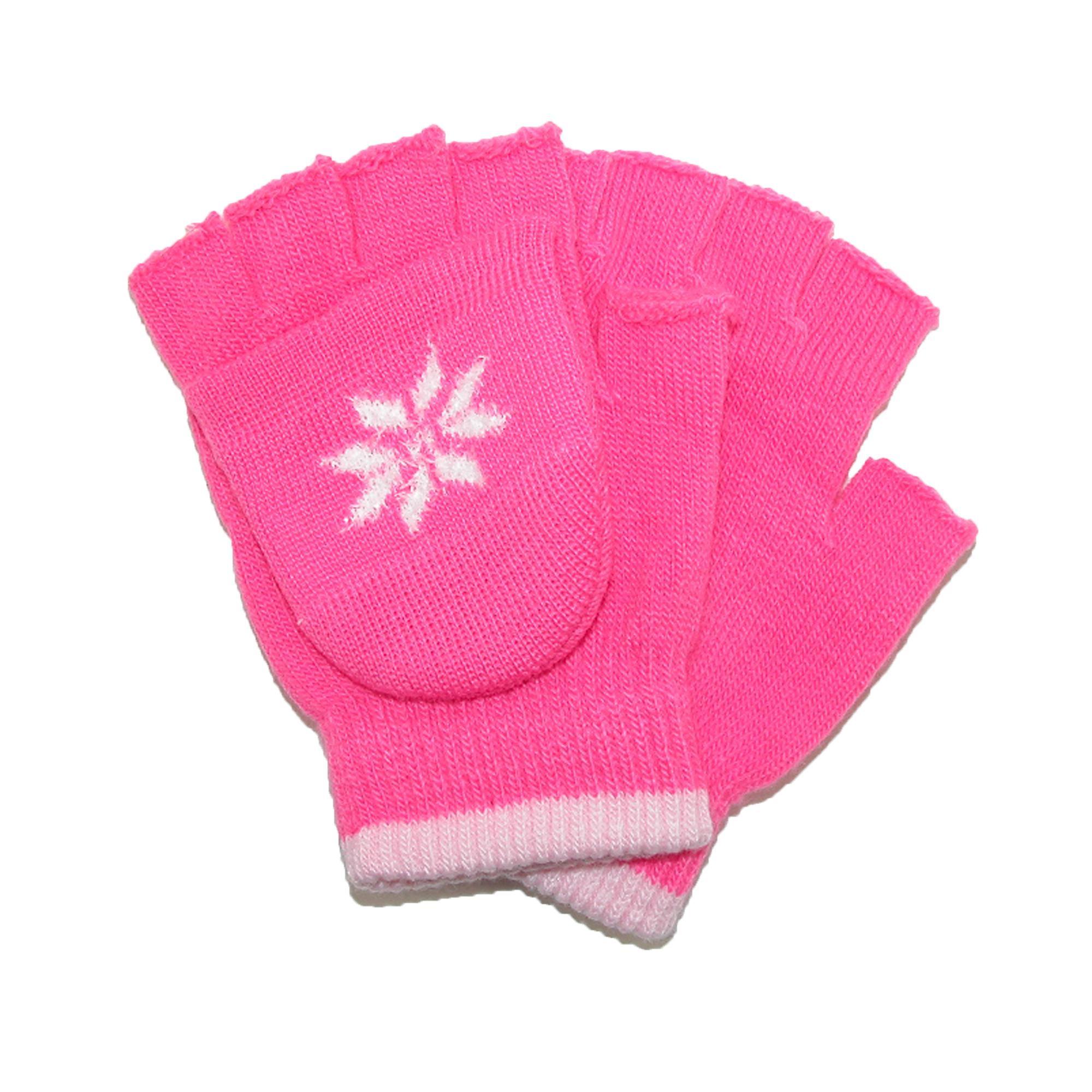 CTM_Girls_Stretch_Convertible_Fingerless_Winter_Mittens__Gloves_
