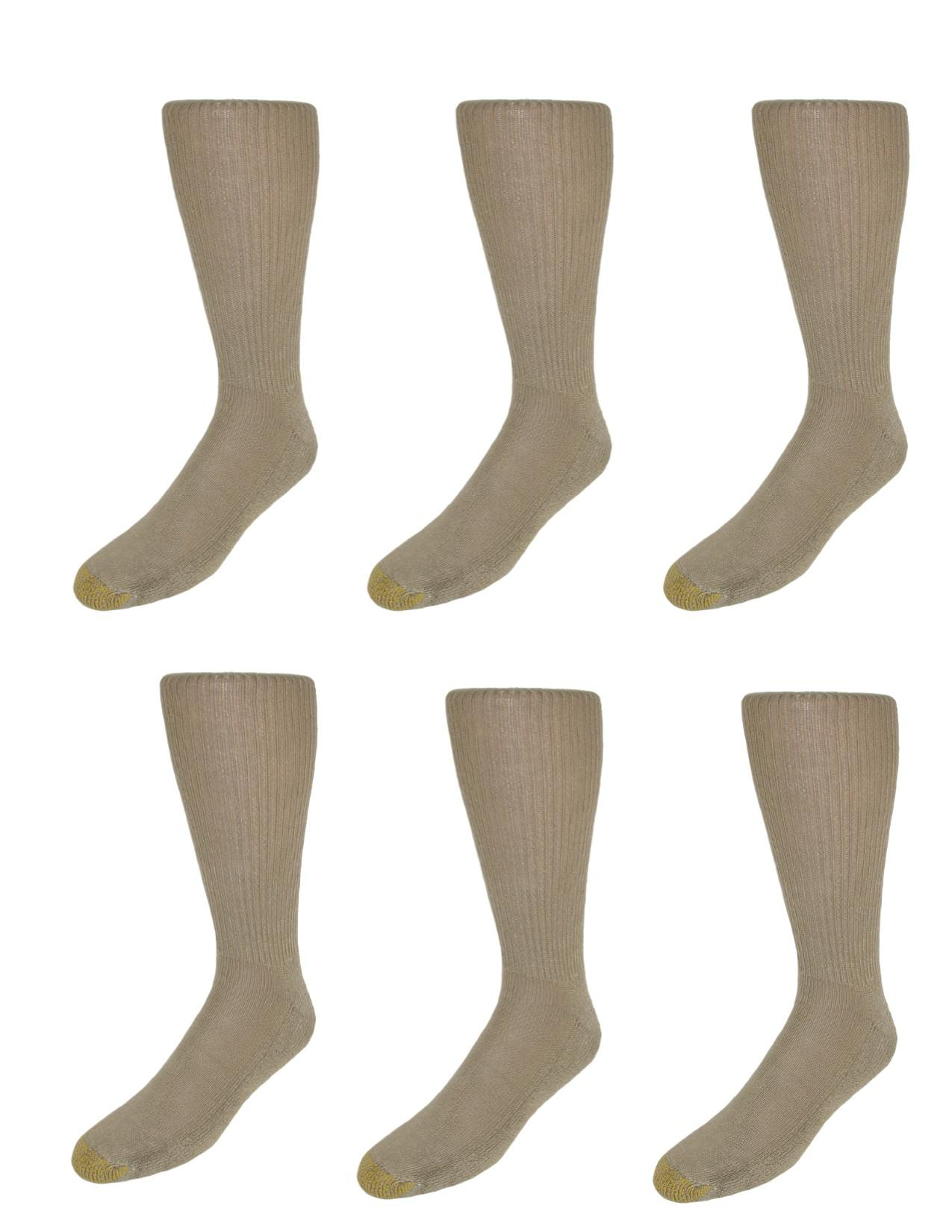 Gold Toe Mens Moisture Control Foot Fluffies Socks (pack Of 6)