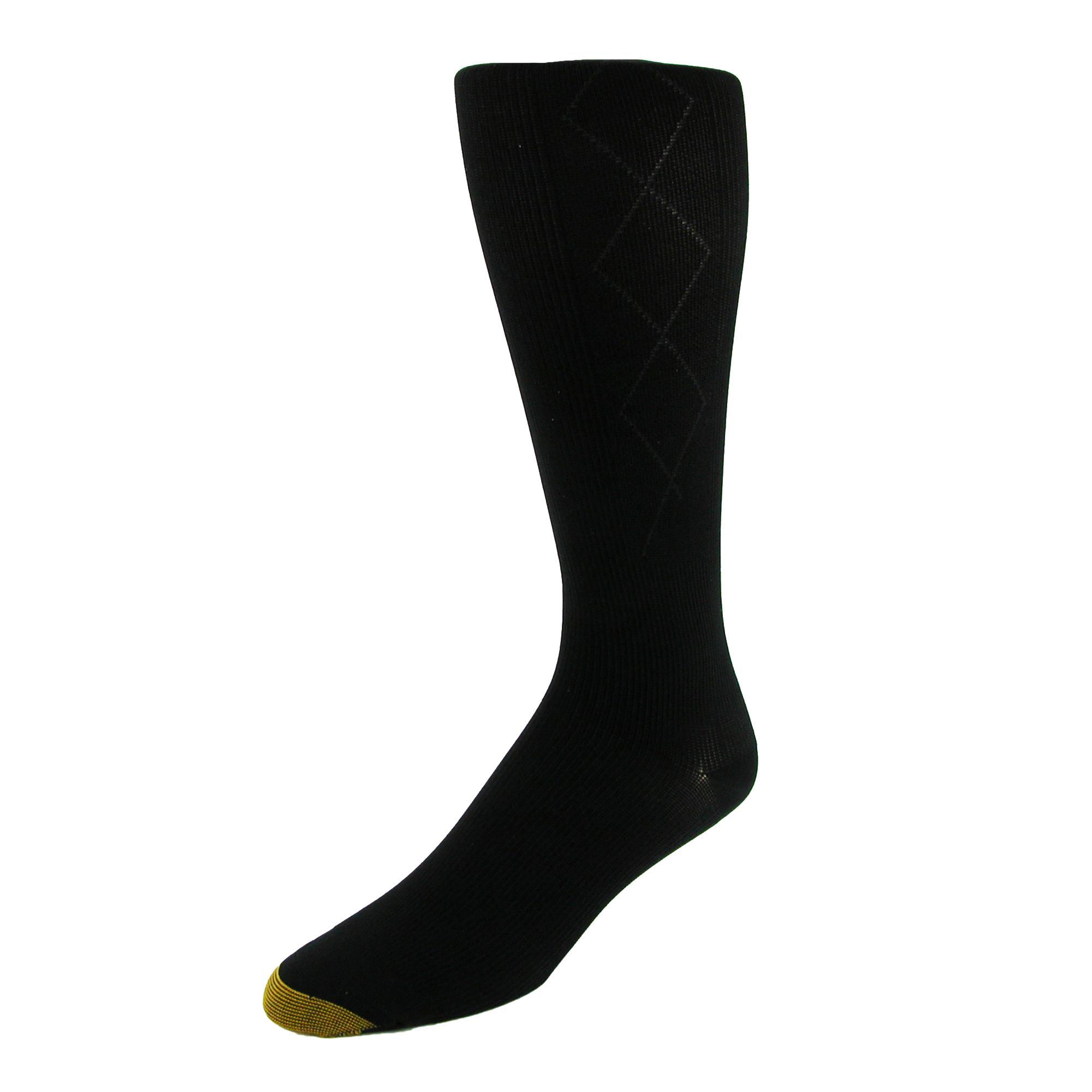 ecca75a11a338 Details about New Gold Toe Men's Argyle Mild Compression Over the Calf Socks