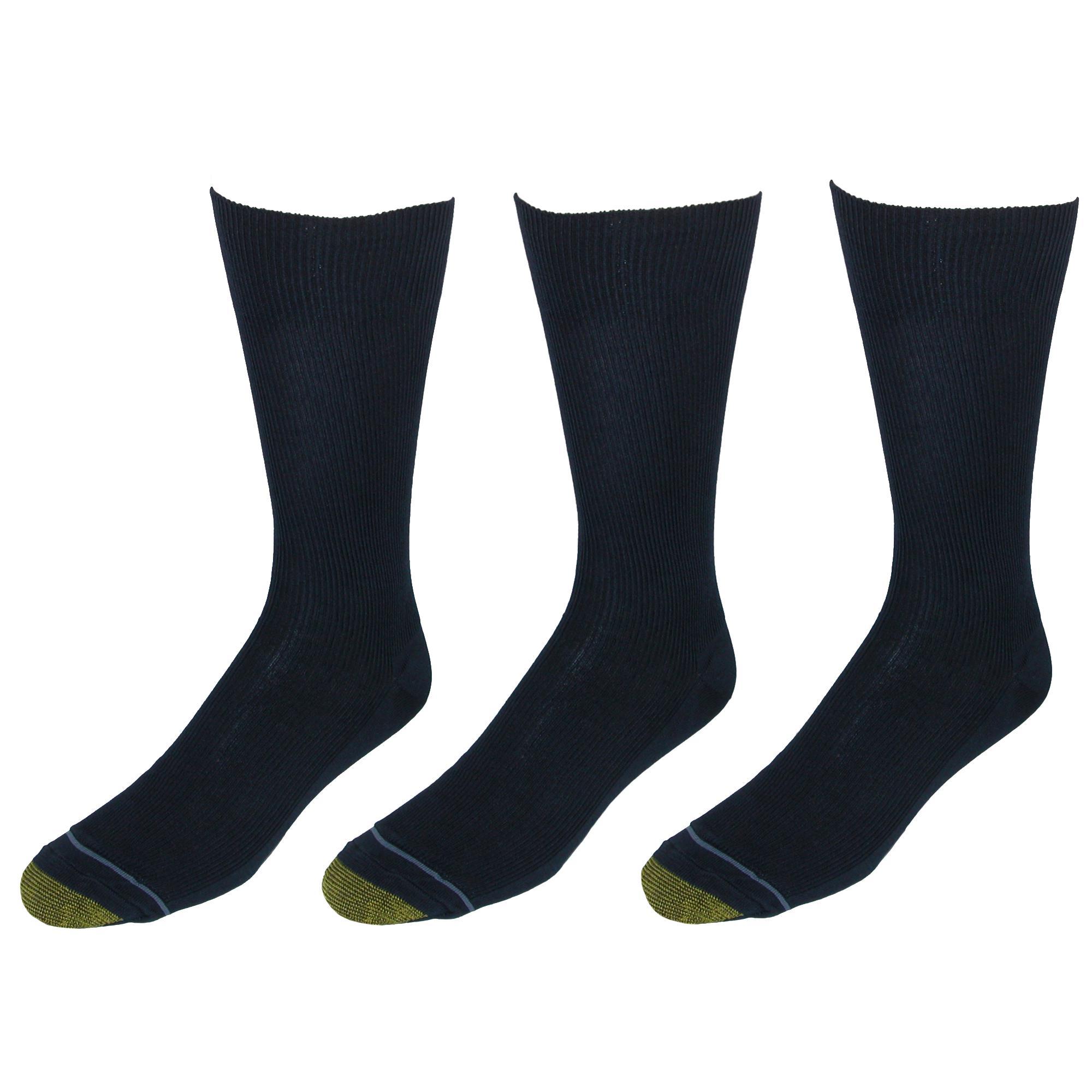 New-Gold-Toe-Men-039-s-Cotton-Moisture-Control-Metropolitan-Dress-Socks-3-Pair miniature 5