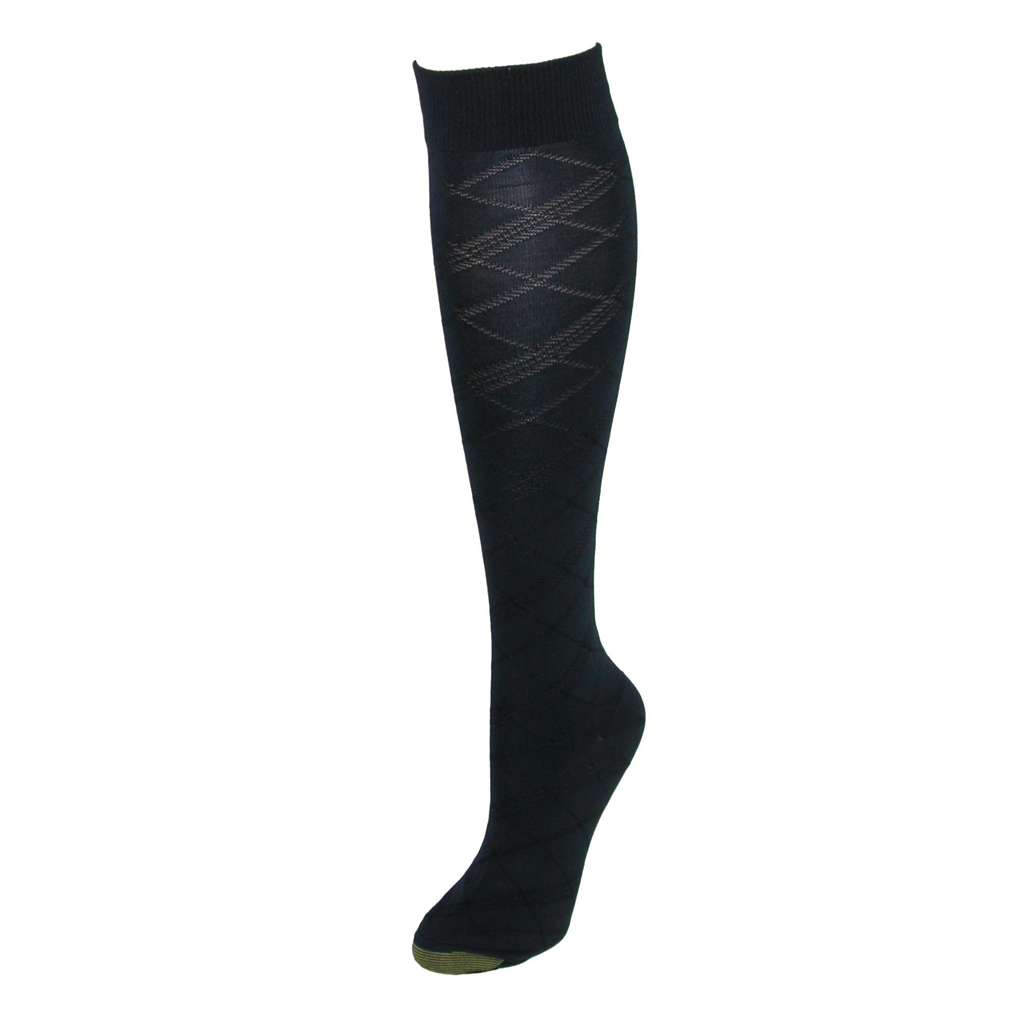 8d2553043 New Gold Toe Women s Patterned Knee High Socks (2 Pair Pack)