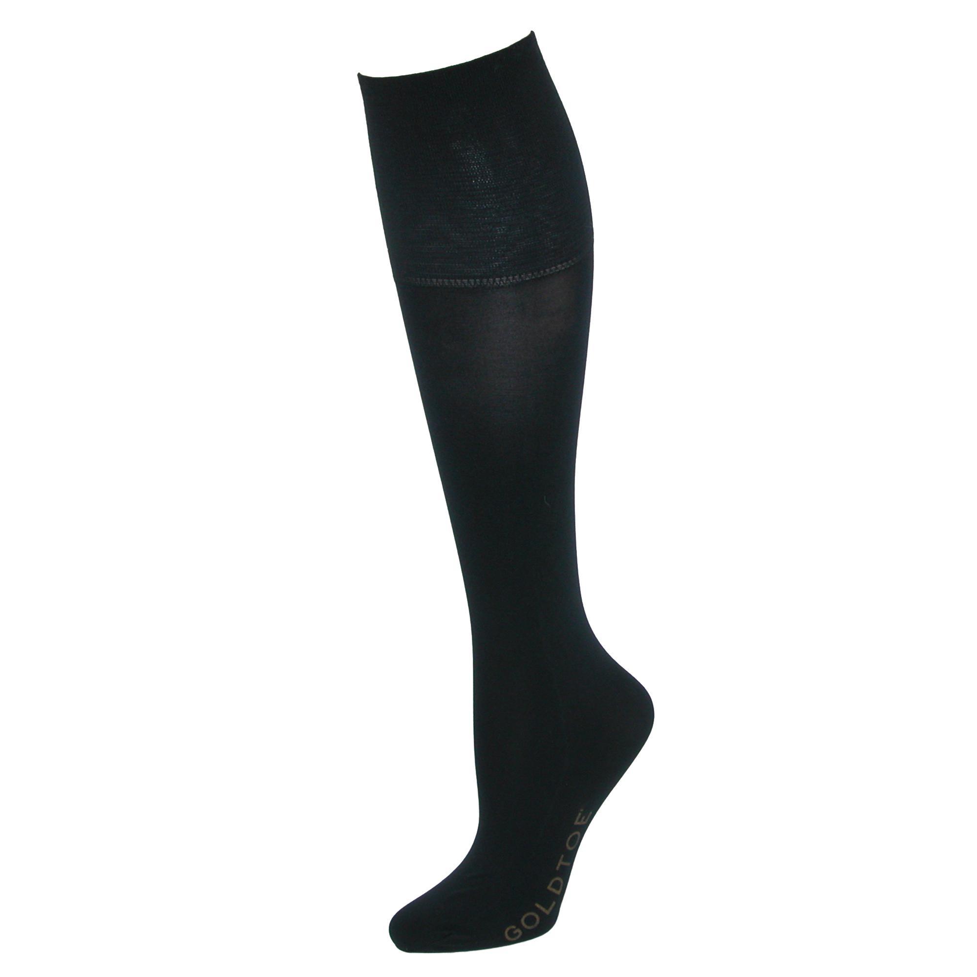 Gold Toe Womens Mild Compression Jersey Knee High Socks